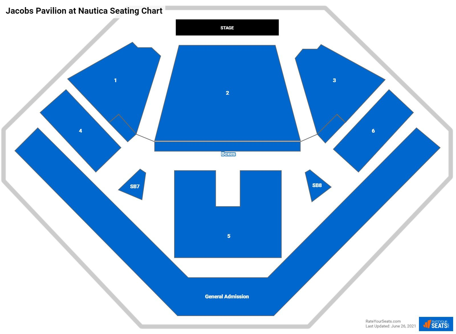Jacobs Pavilion at Nautica Seating Chart