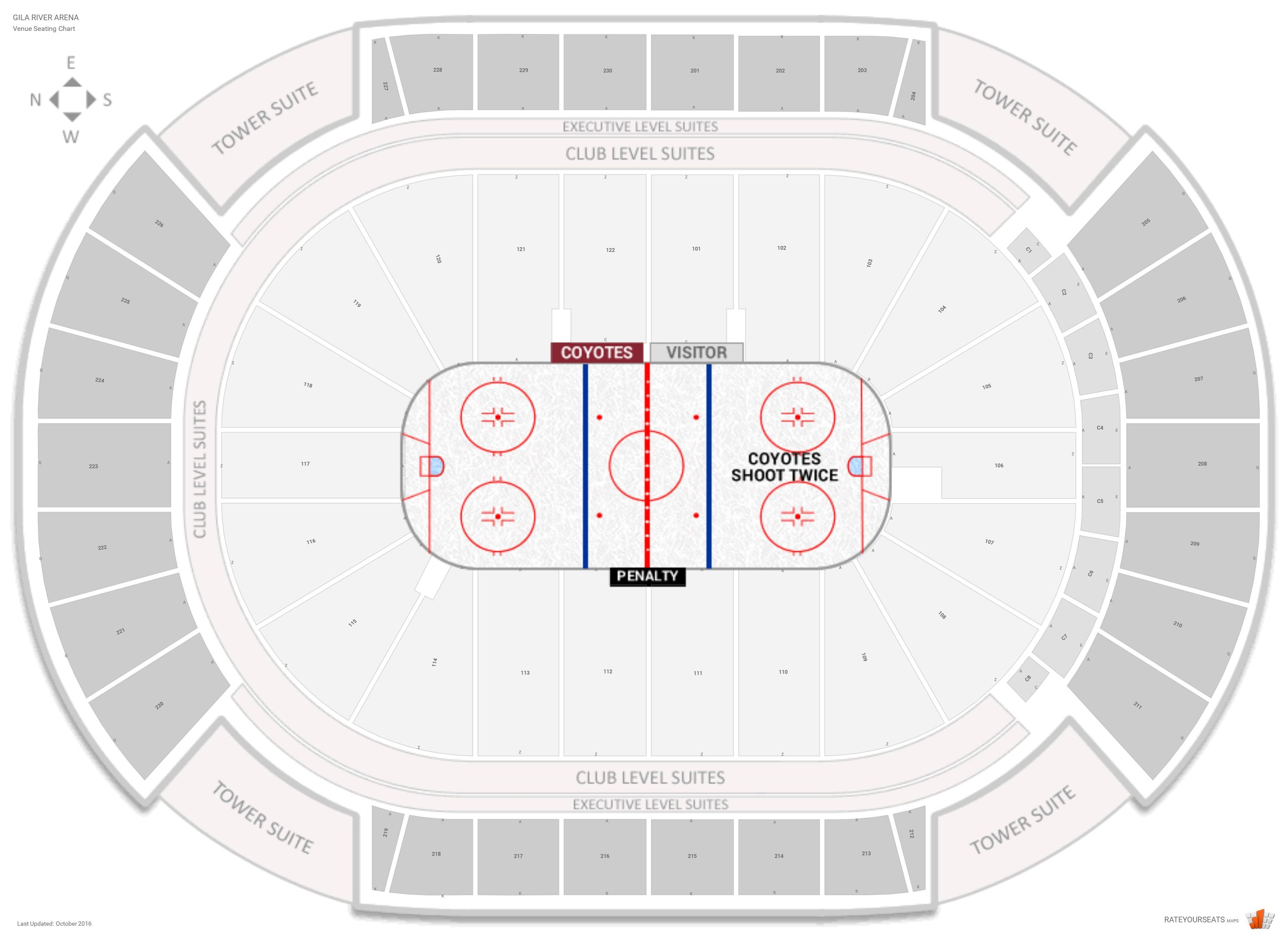 Gila River Arena Seating Chart With Row Numbers