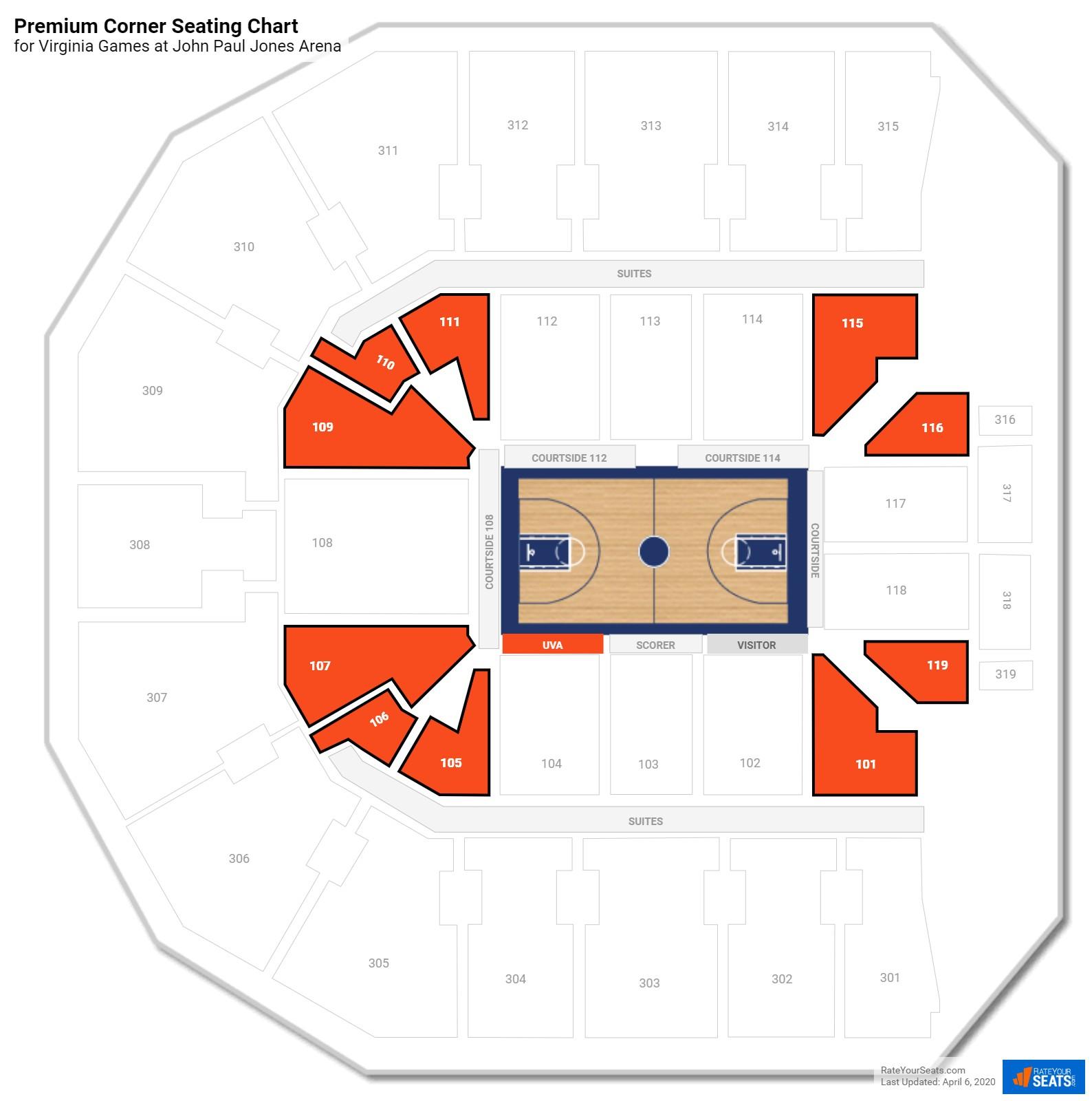 John Paul Jones Arena Premium Corner Seating Chart