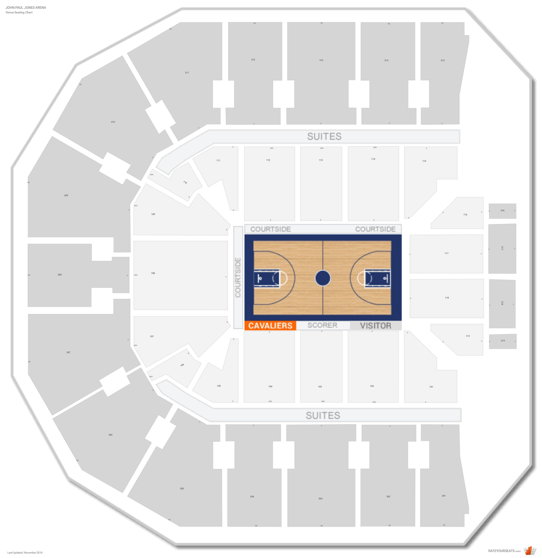 John Paul Jones Arena Seating Chart With Row Numbers