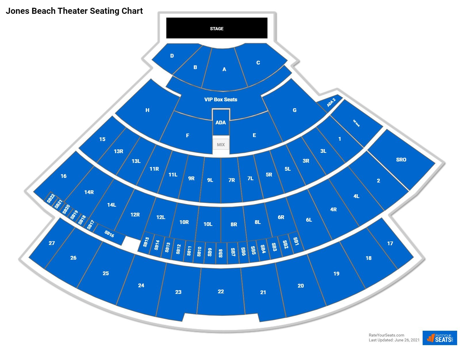 Jones Beach Theater Seating Chart