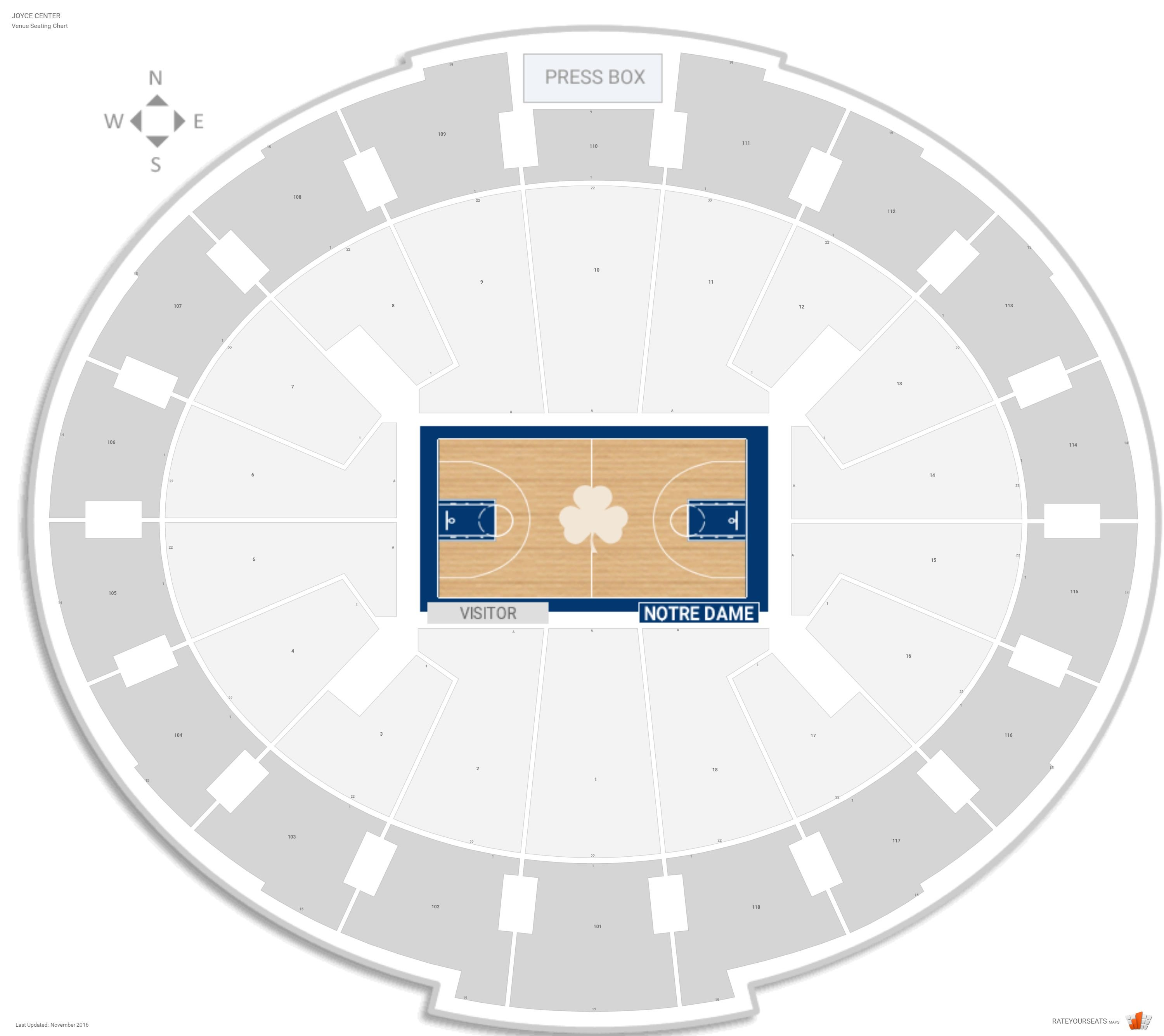 Joyce Center Notre Dame Seating Guide Rateyourseats Com