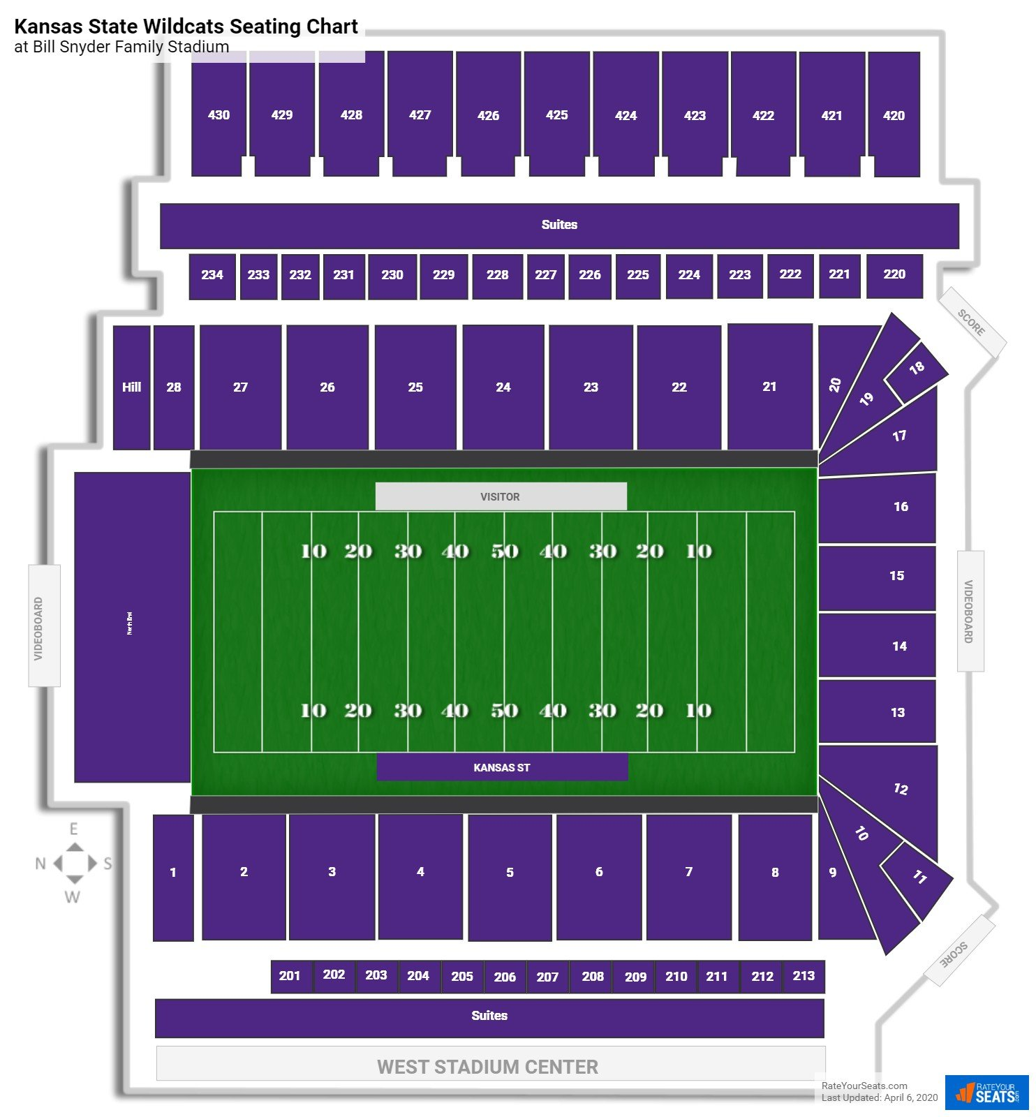 Kansas State Football Seating Chart