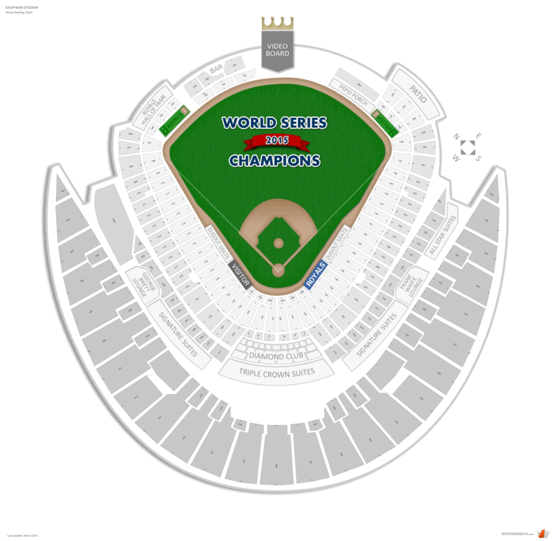 Kansas City Royals Seating Guide - Kauffman Stadium ...