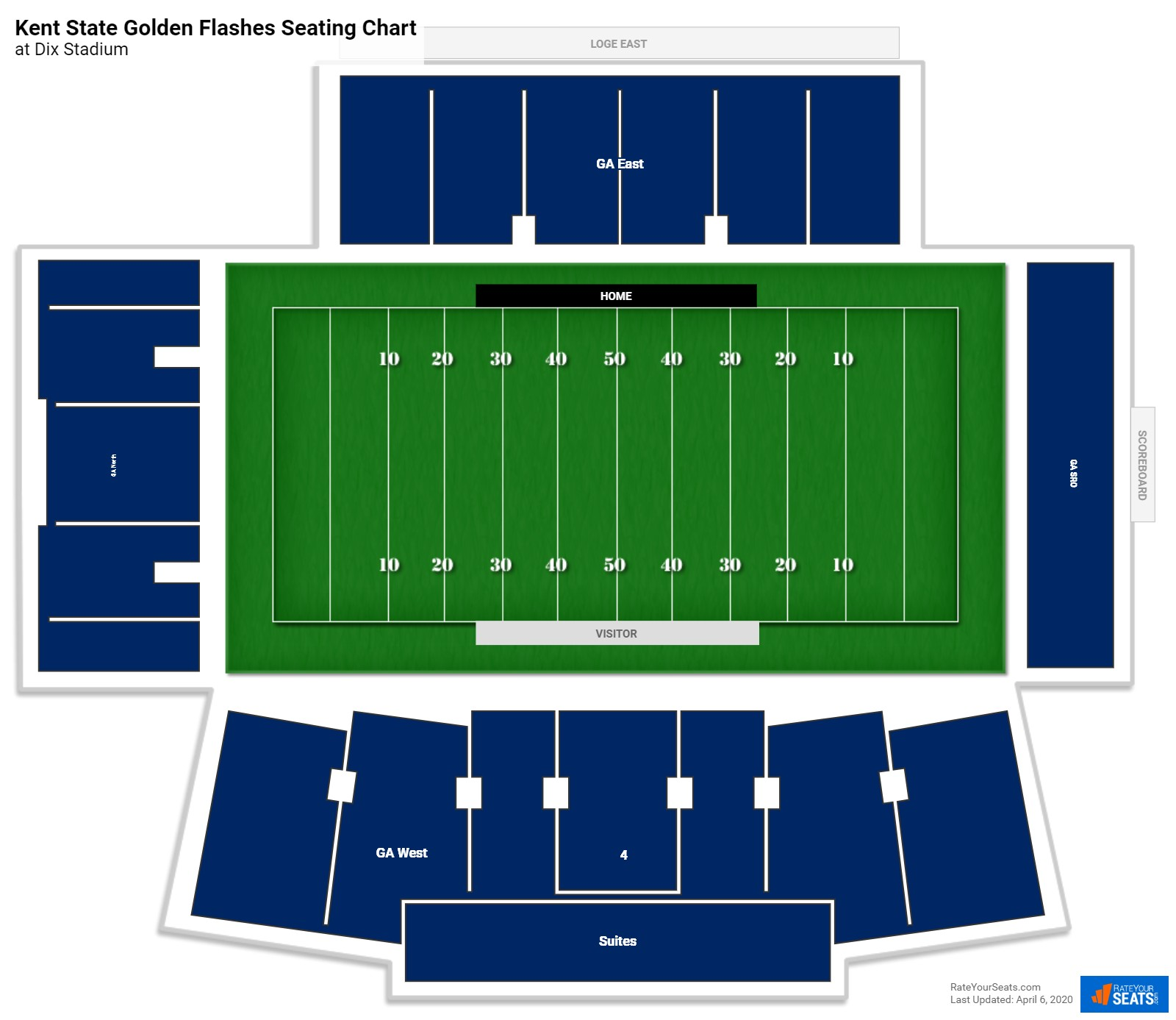 Kent State Football Seating Chart