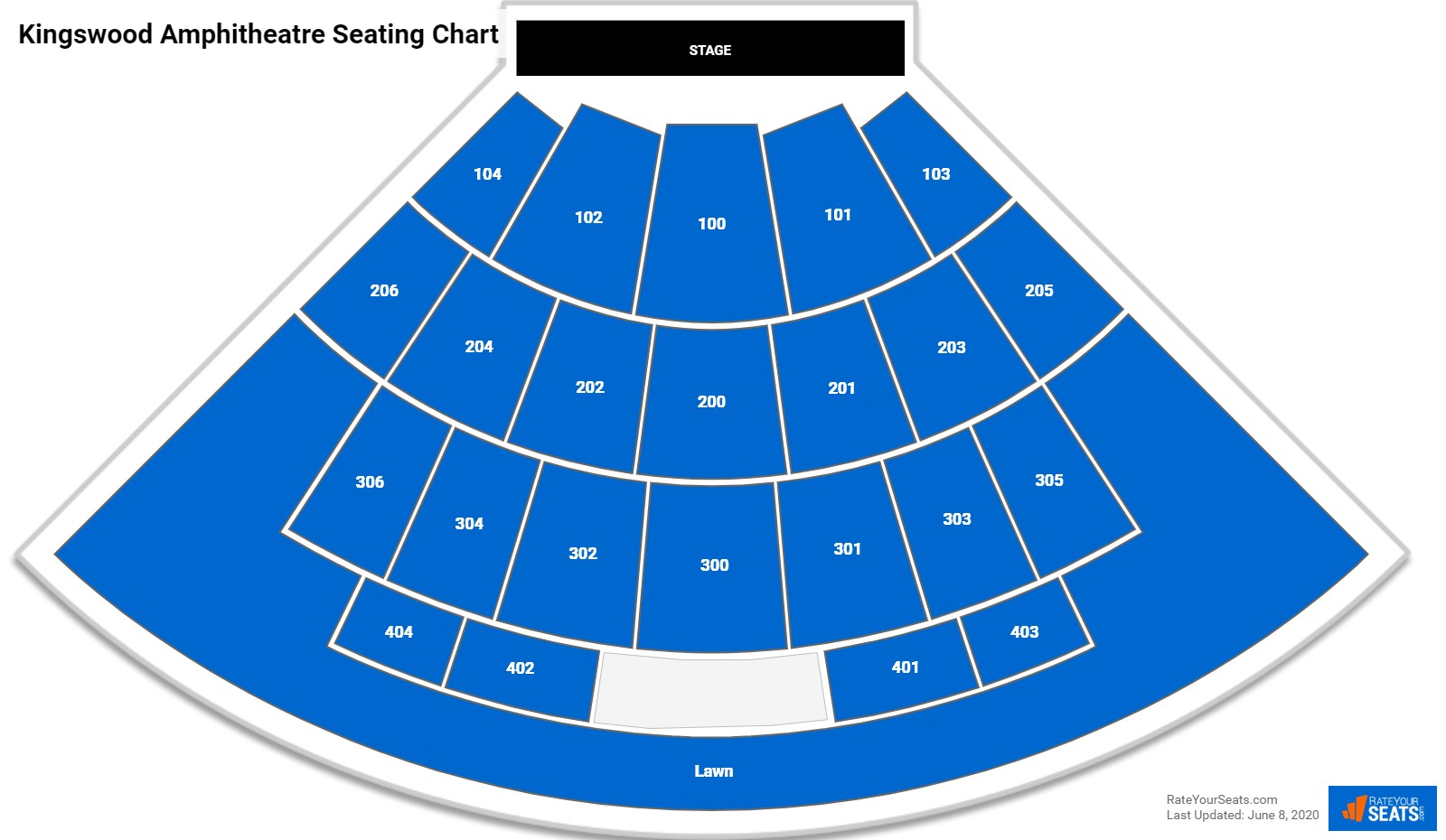 Kingswood Amphitheatre Seating Chart