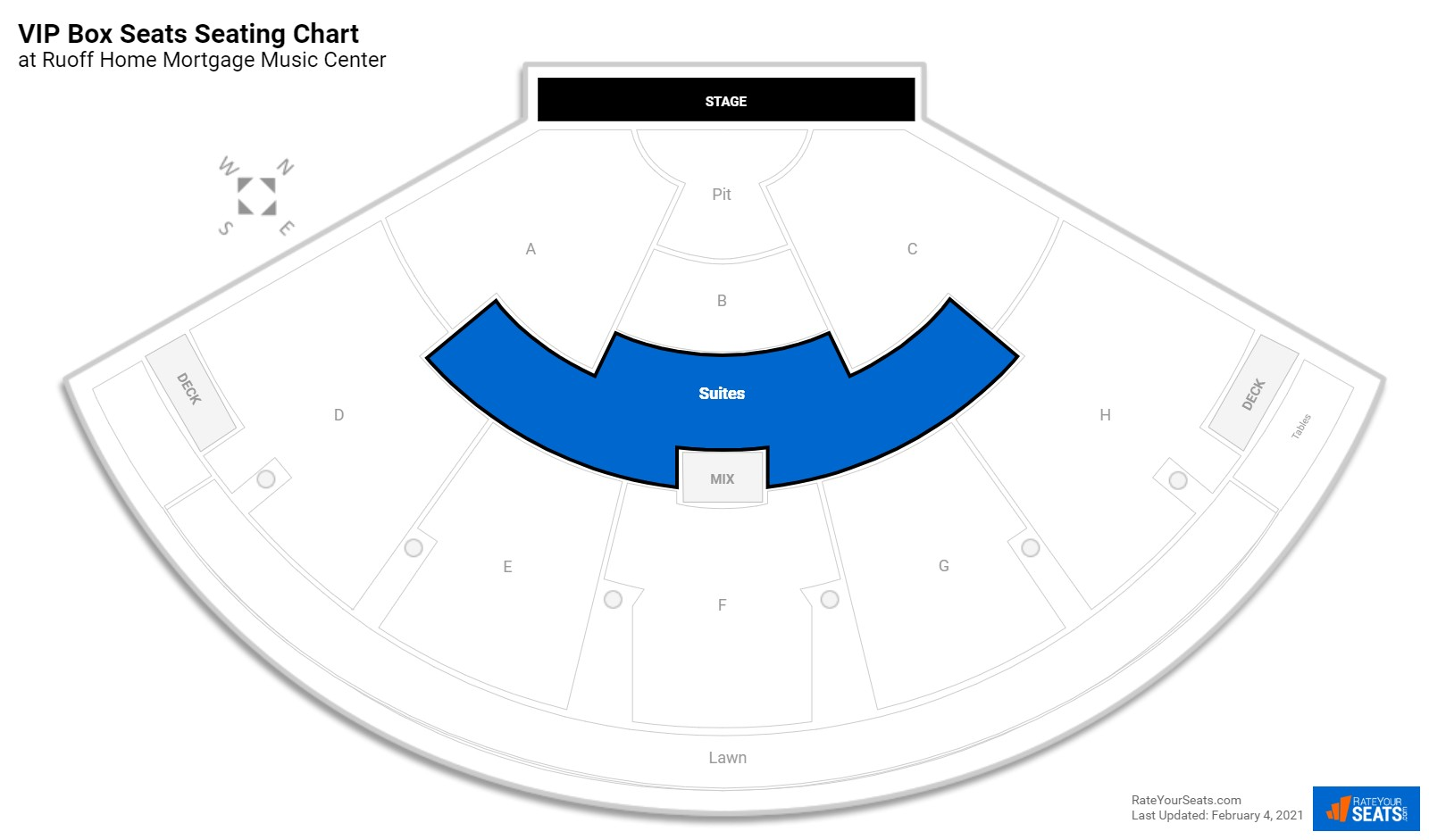 Klipsch Music Center Seating Chart Seat Numbers
