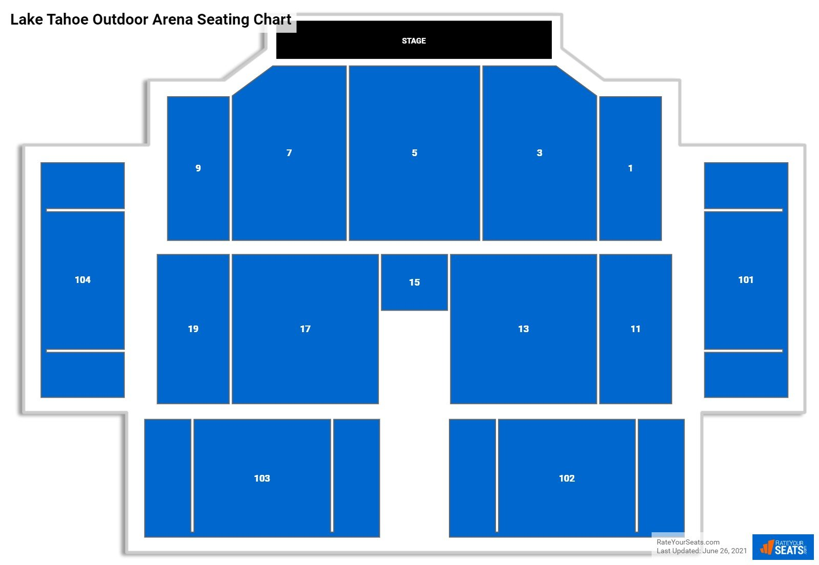 Lake Tahoe Outdoor Arena Seating Chart
