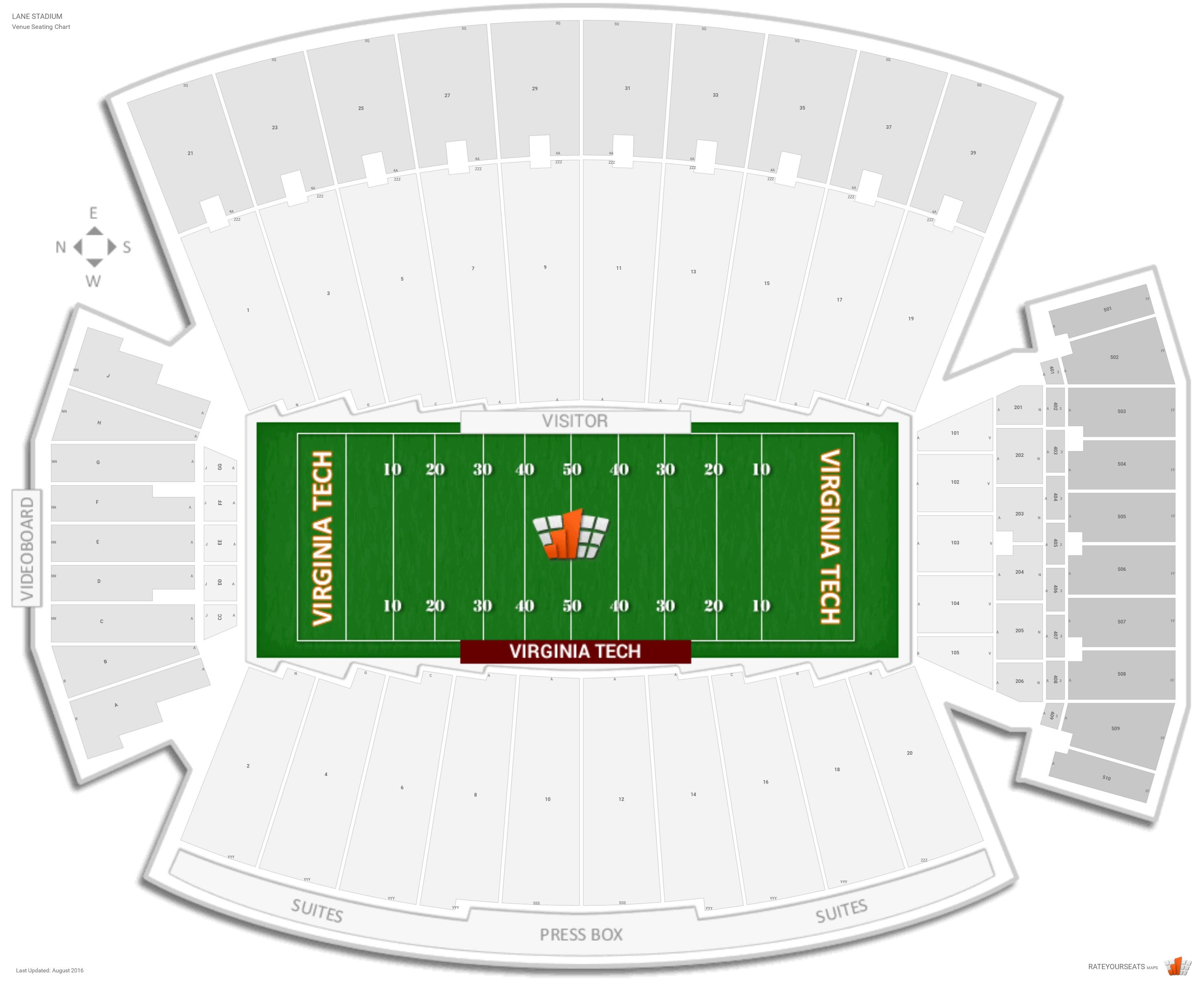 Lane stadium virginia tech seating guide rateyourseats com