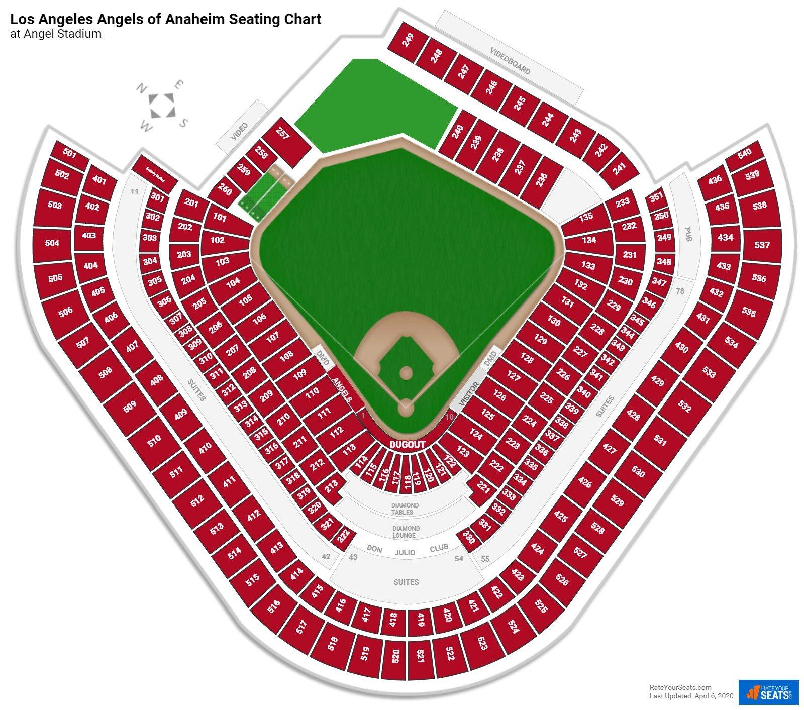 Anaheim Seating Charts At Angel Stadium