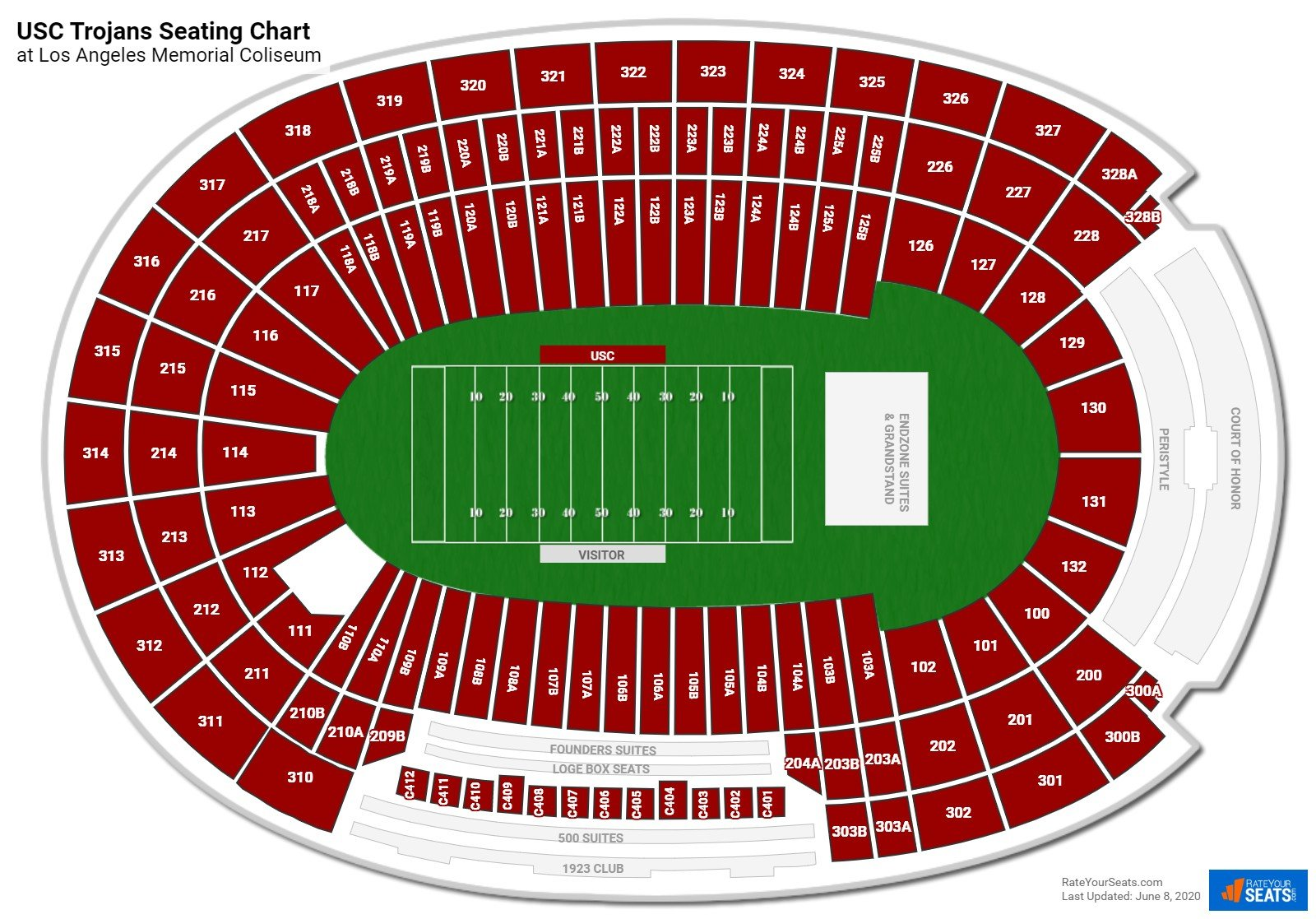 USC Football Seating Chart
