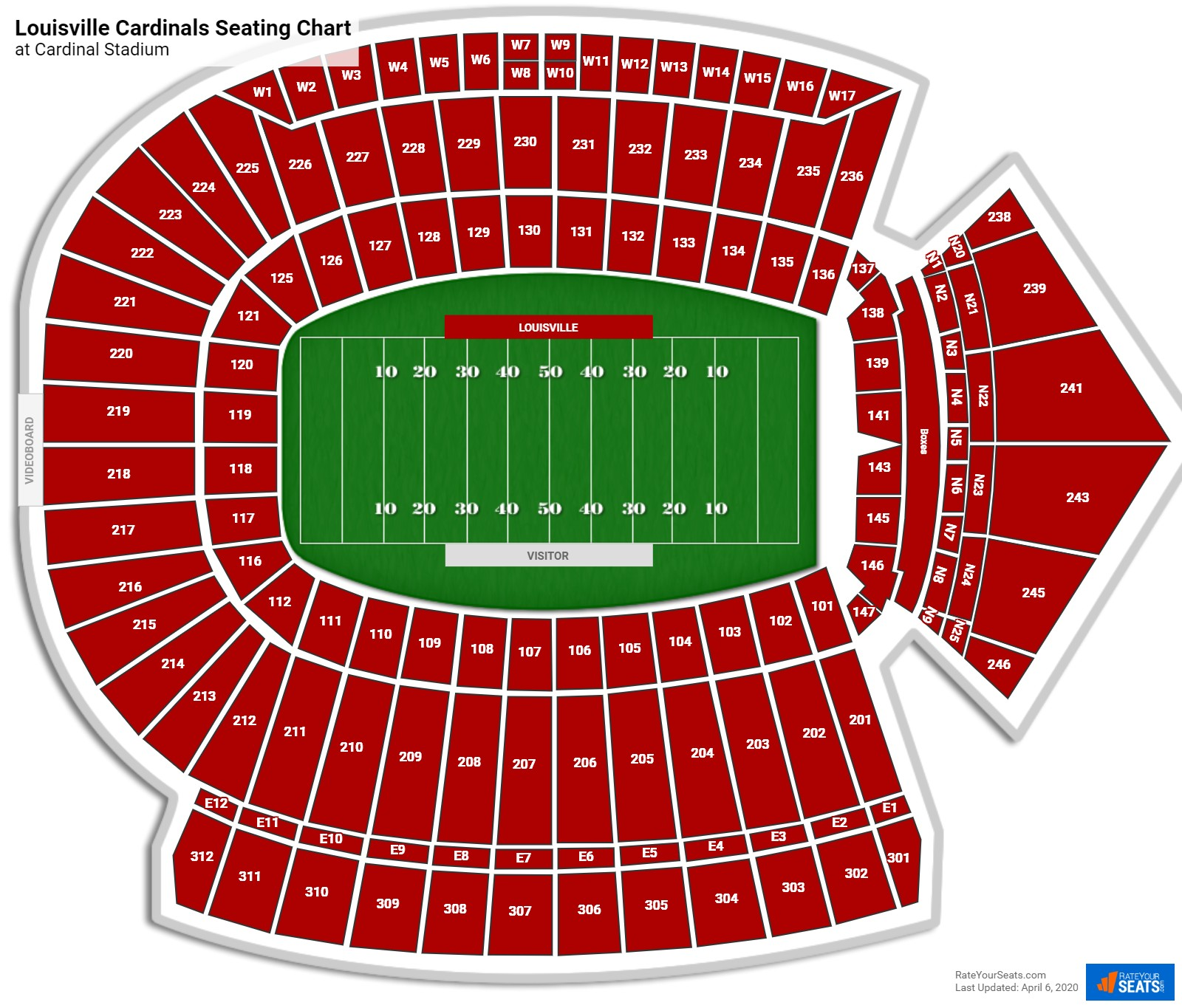 Louisville Football Seating Chart
