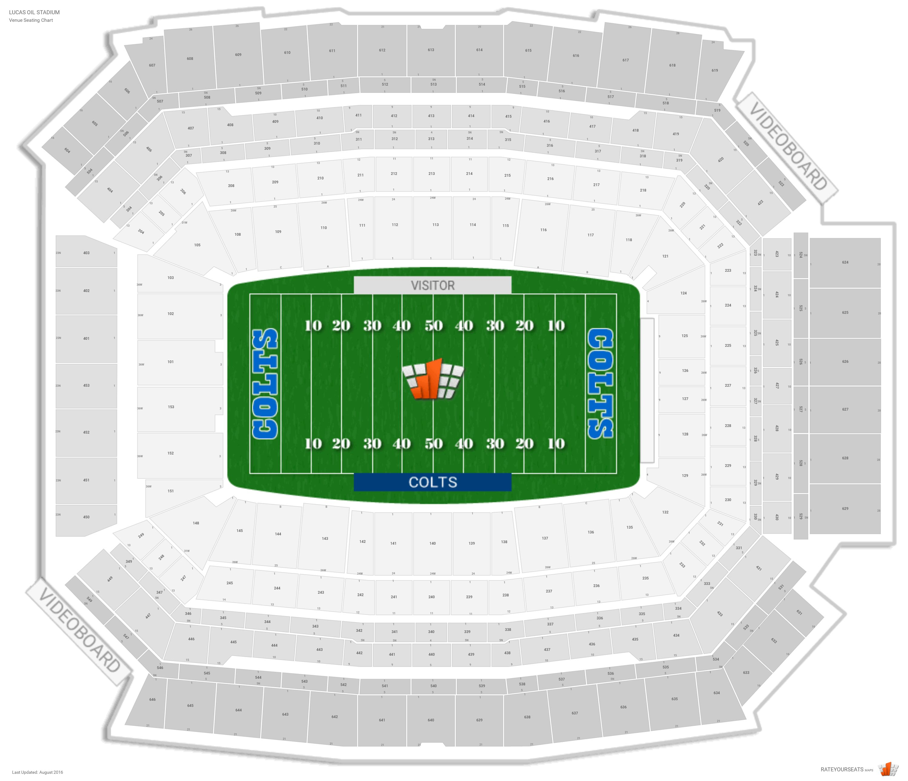 Lucas Oil Stadium Map Indianapolis Colts Seating Guide   Lucas Oil Stadium
