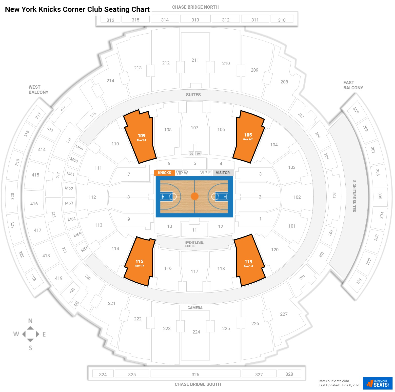 New York Knicks Club Seating At Madison Square Garden