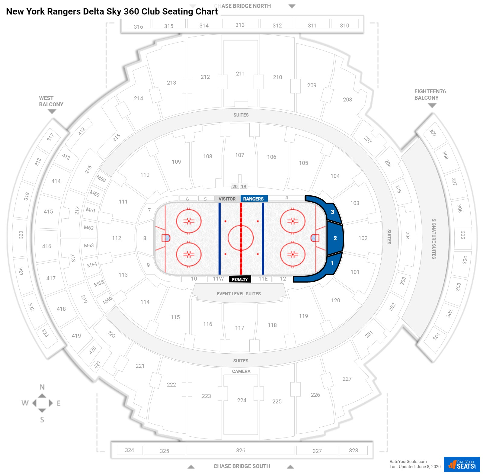 New York Rangers Club Seating At Madison Square Garden   RateYourSeats.com