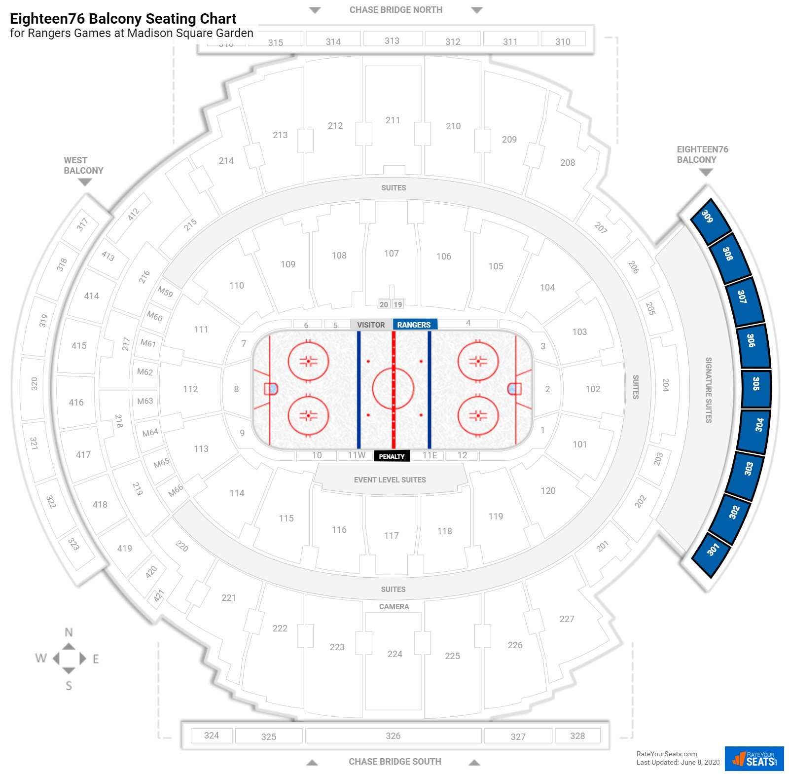 Madison Square Garden Eighteen76 Balcony seating chart