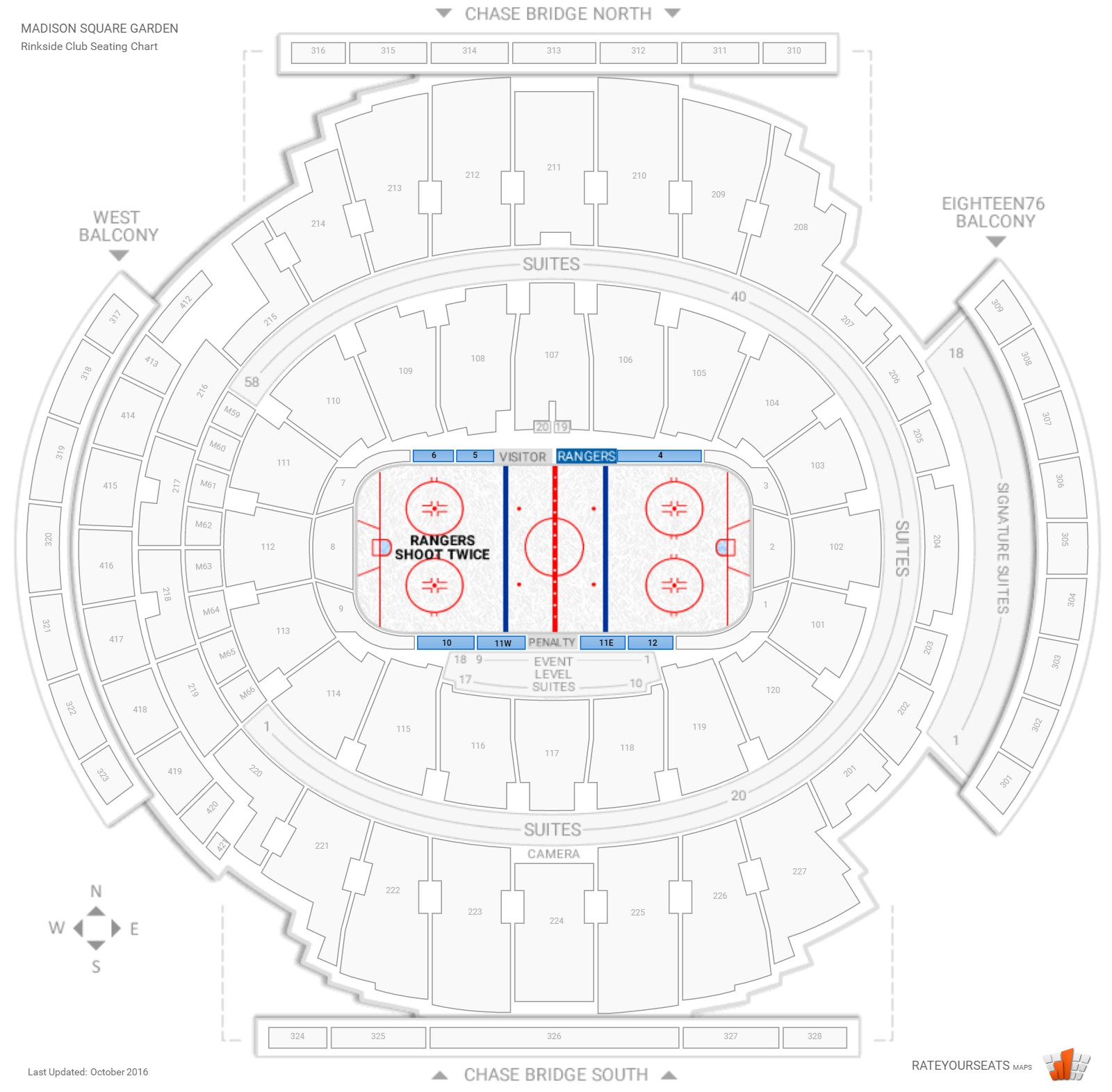 Club And Premium Seating At Madison Square Garden