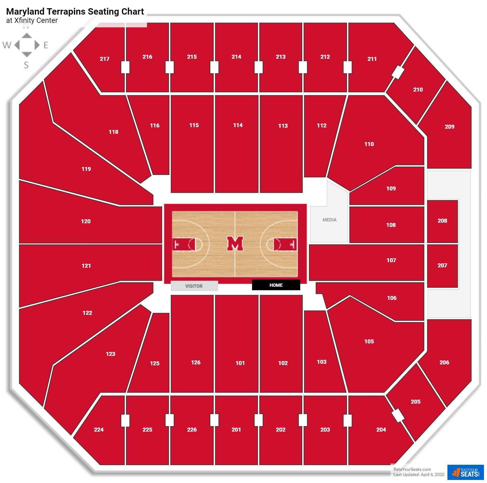 Maryland Basketball Seating Chart