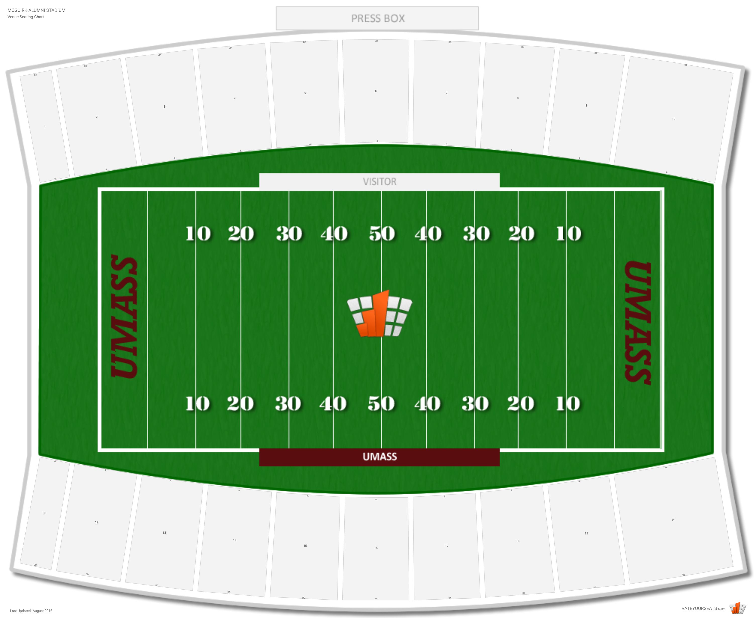 Mcguirk alumni stadium umass seating guide rateyourseats com