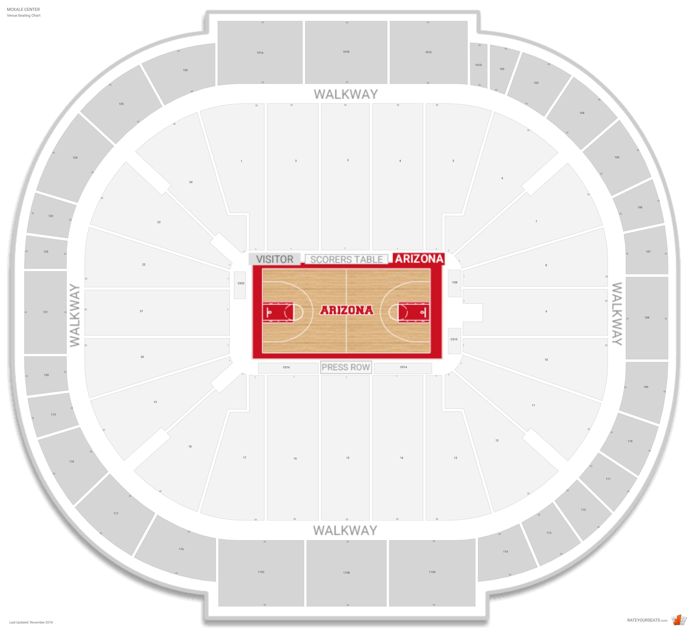 Mckale Center Arizona Seating Guide Rateyourseatscom