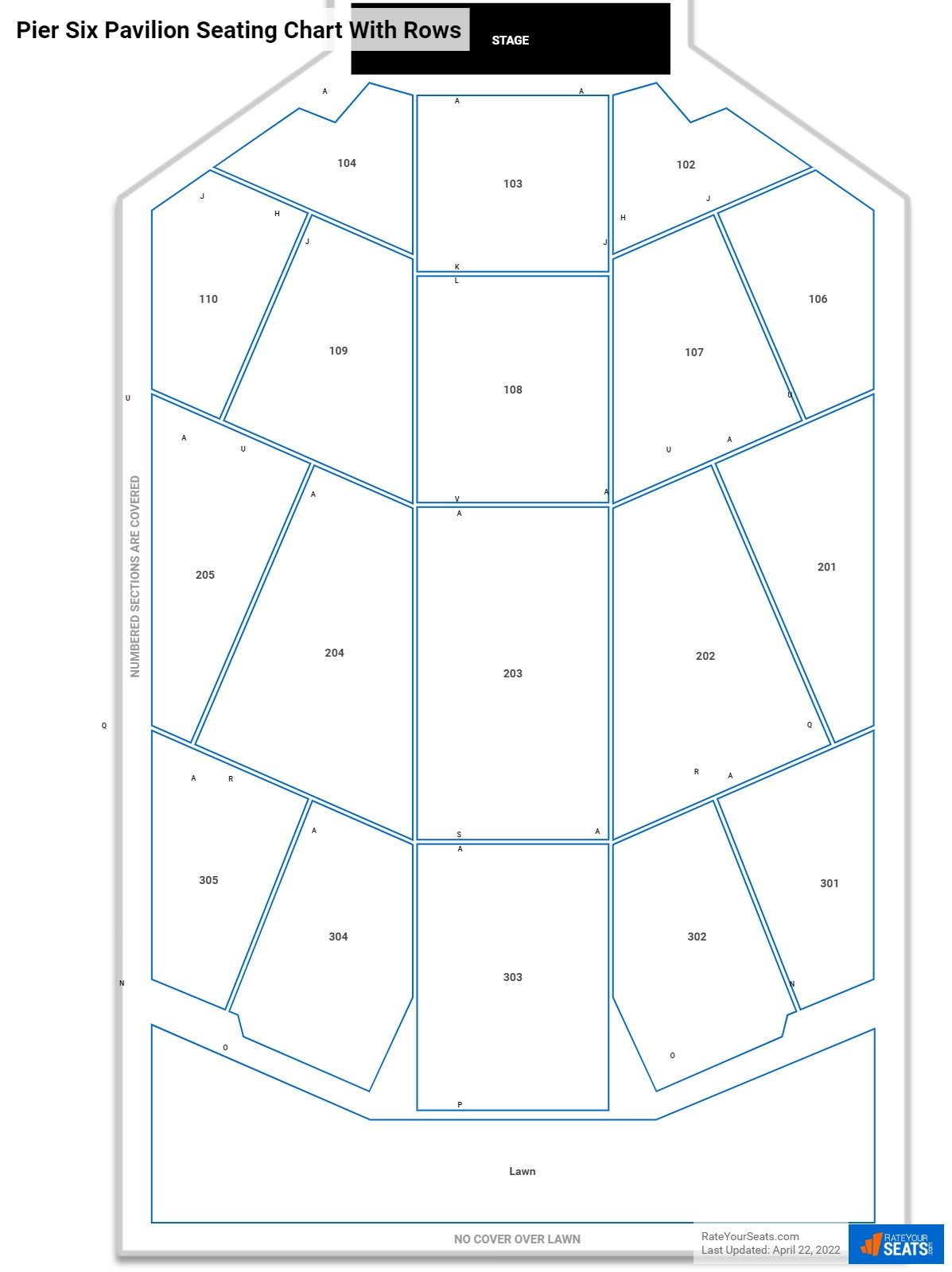 MECU Pavilion seating chart with rows