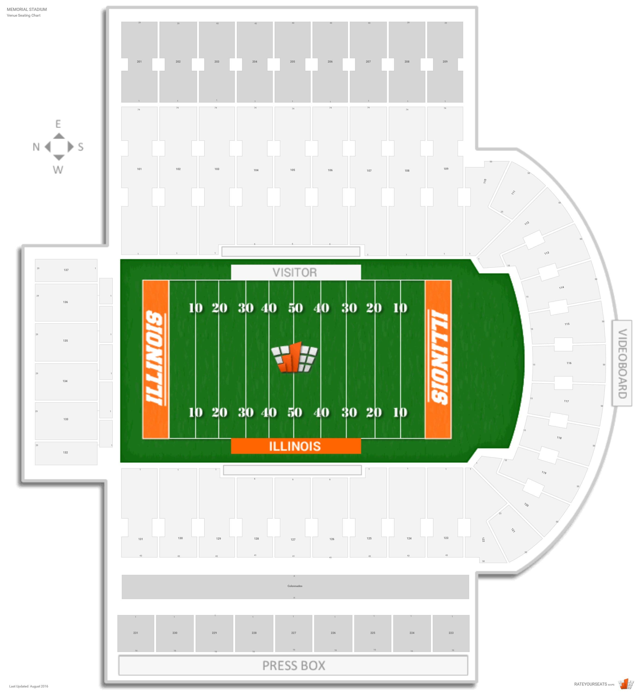 memorial stadium illinois seating chart: Memorial stadium illinois seating guide rateyourseats com