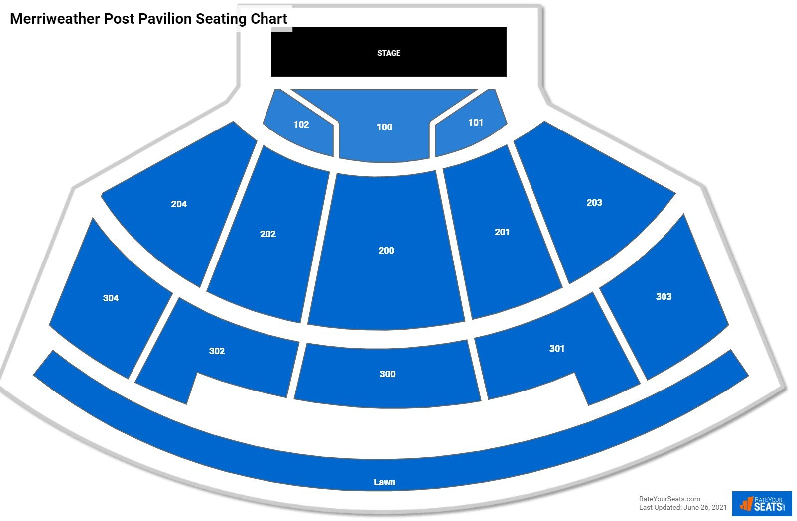 Merriweather Post Pavilion Seating Chart