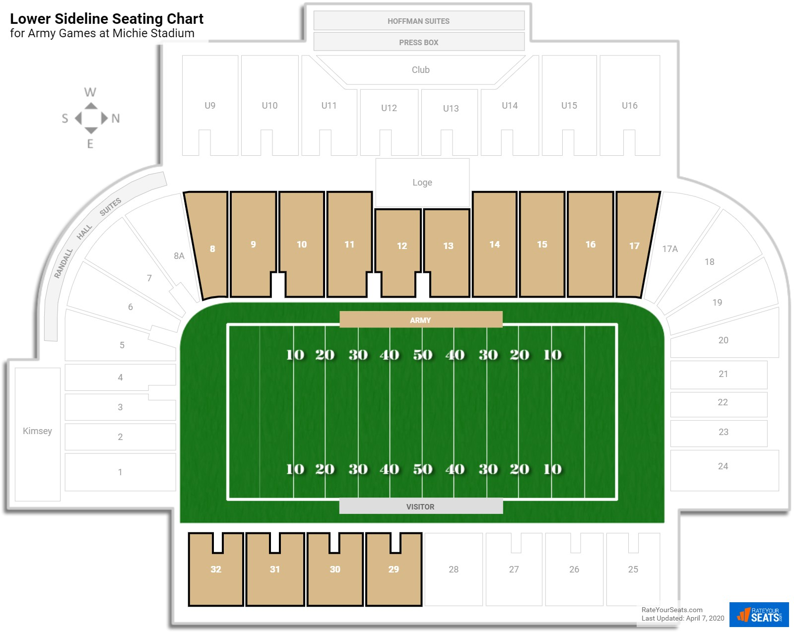 Michie Stadium Army Seating Guide Rateyourseats Com
