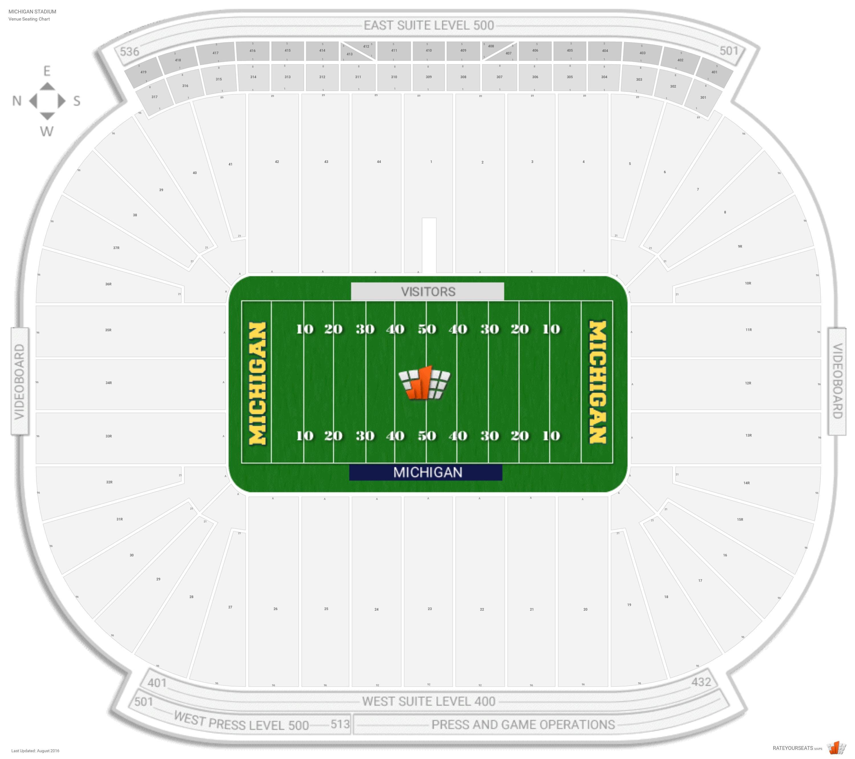 Michigan Stadium Michigan Seating Guide Rateyourseats Com
