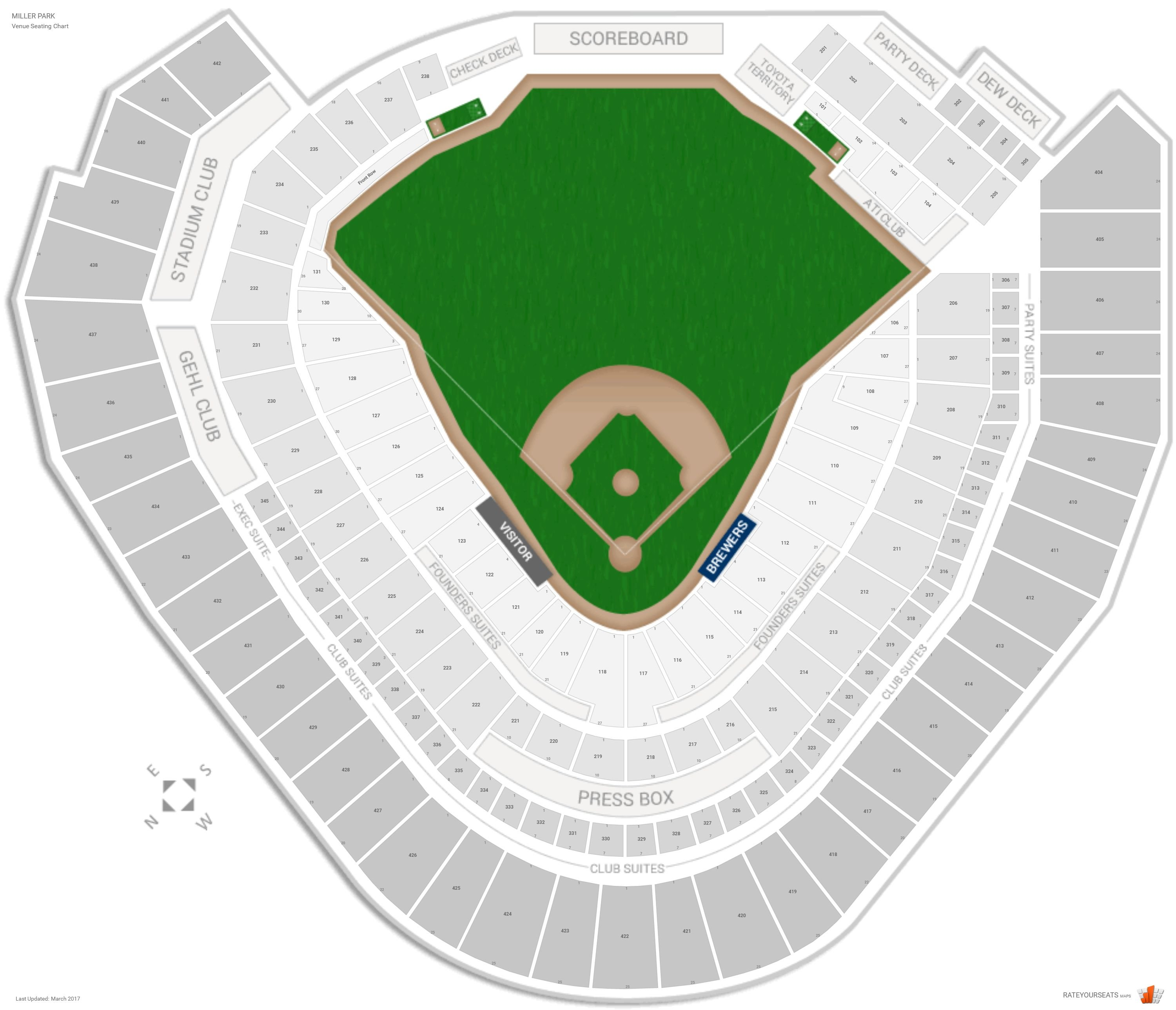 Milwaukee Brewers Seating Guide Miller Park Rateyourseatscom