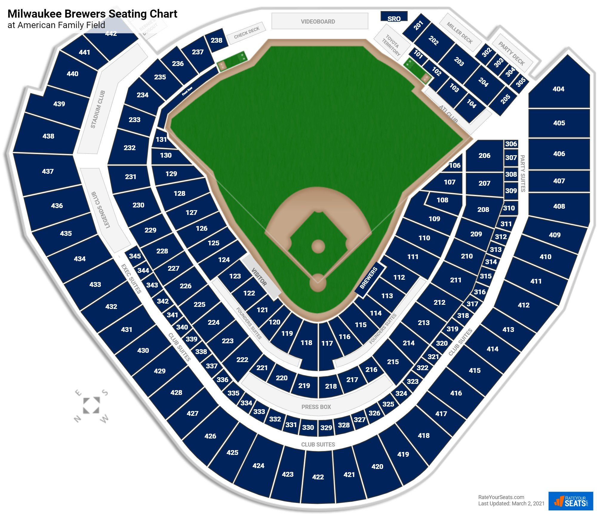 Milwaukee Brewers Seating Chart