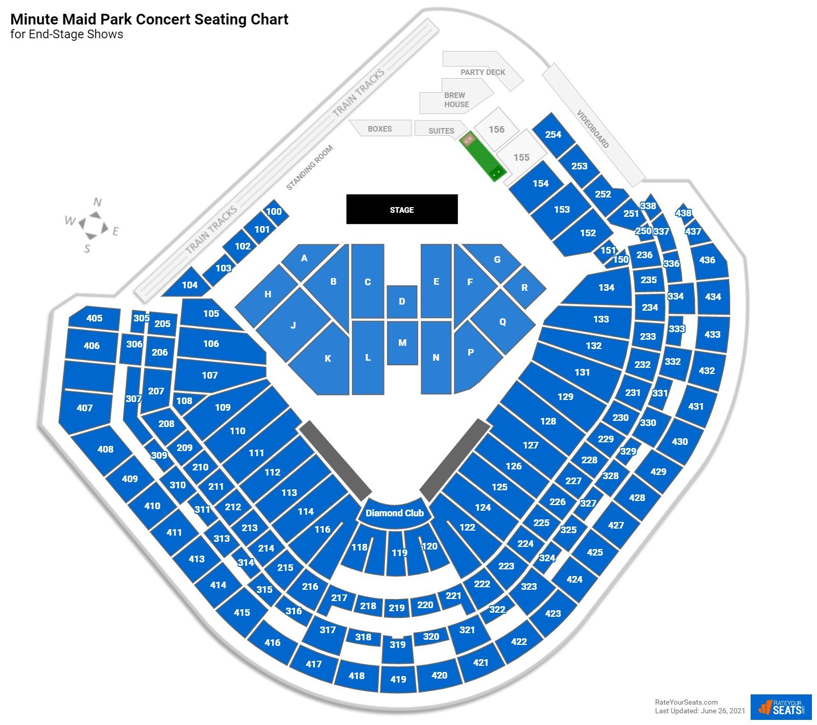 Minute Maid Park Seating Chart for Concerts