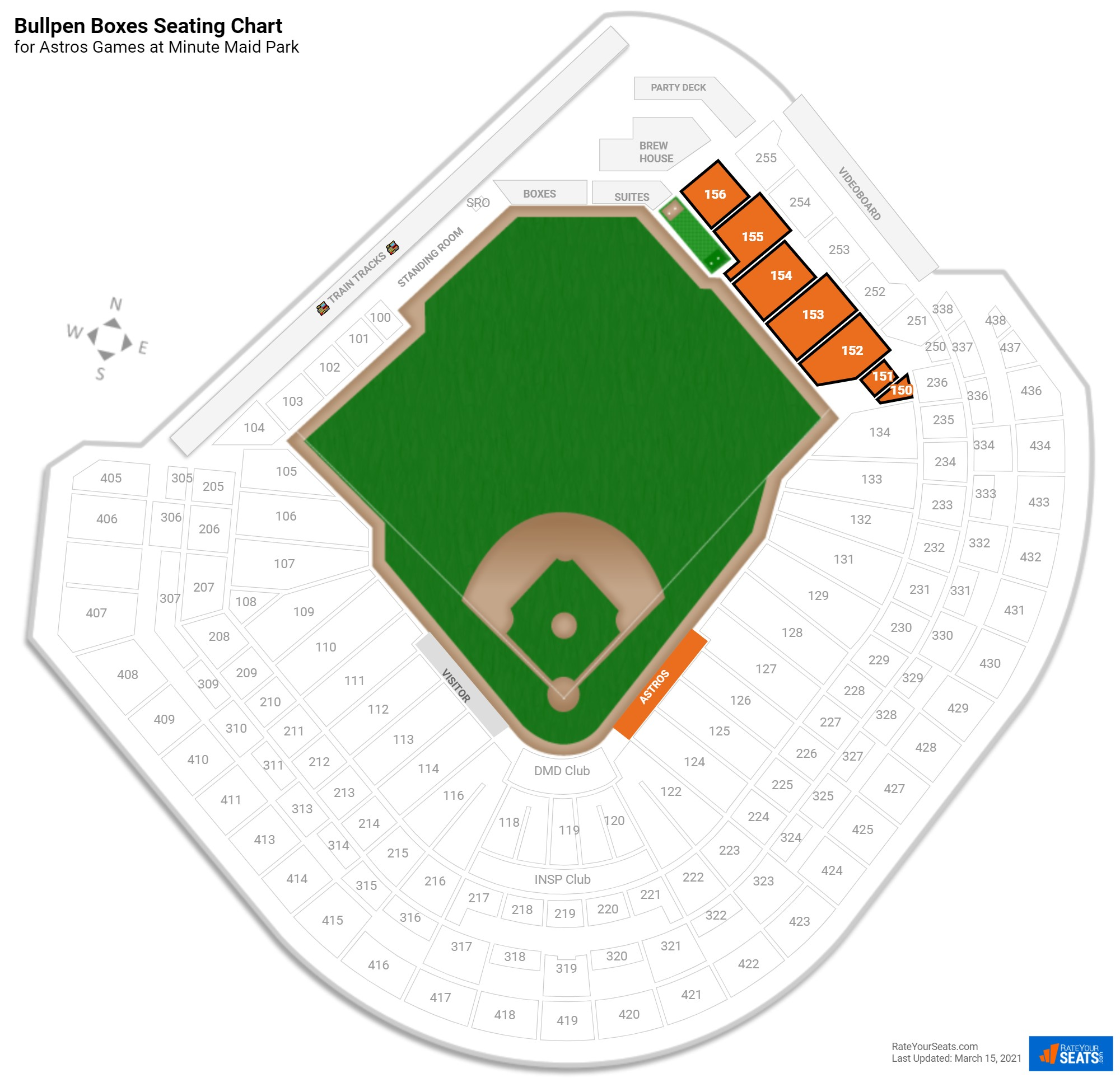 Minute Maid Park Bullpen Boxes seating chart