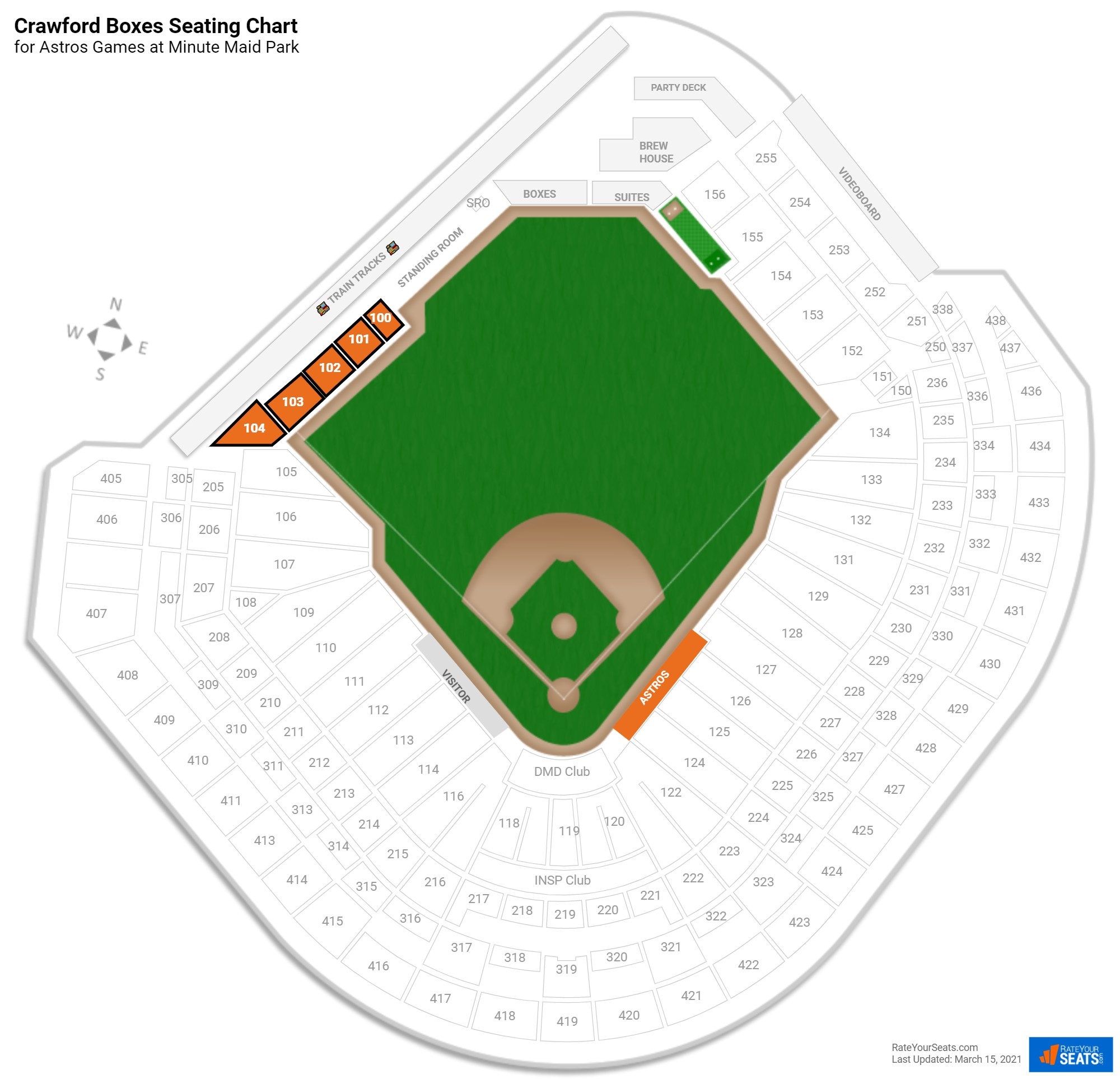Minute Maid Park Crawford Boxes seating chart