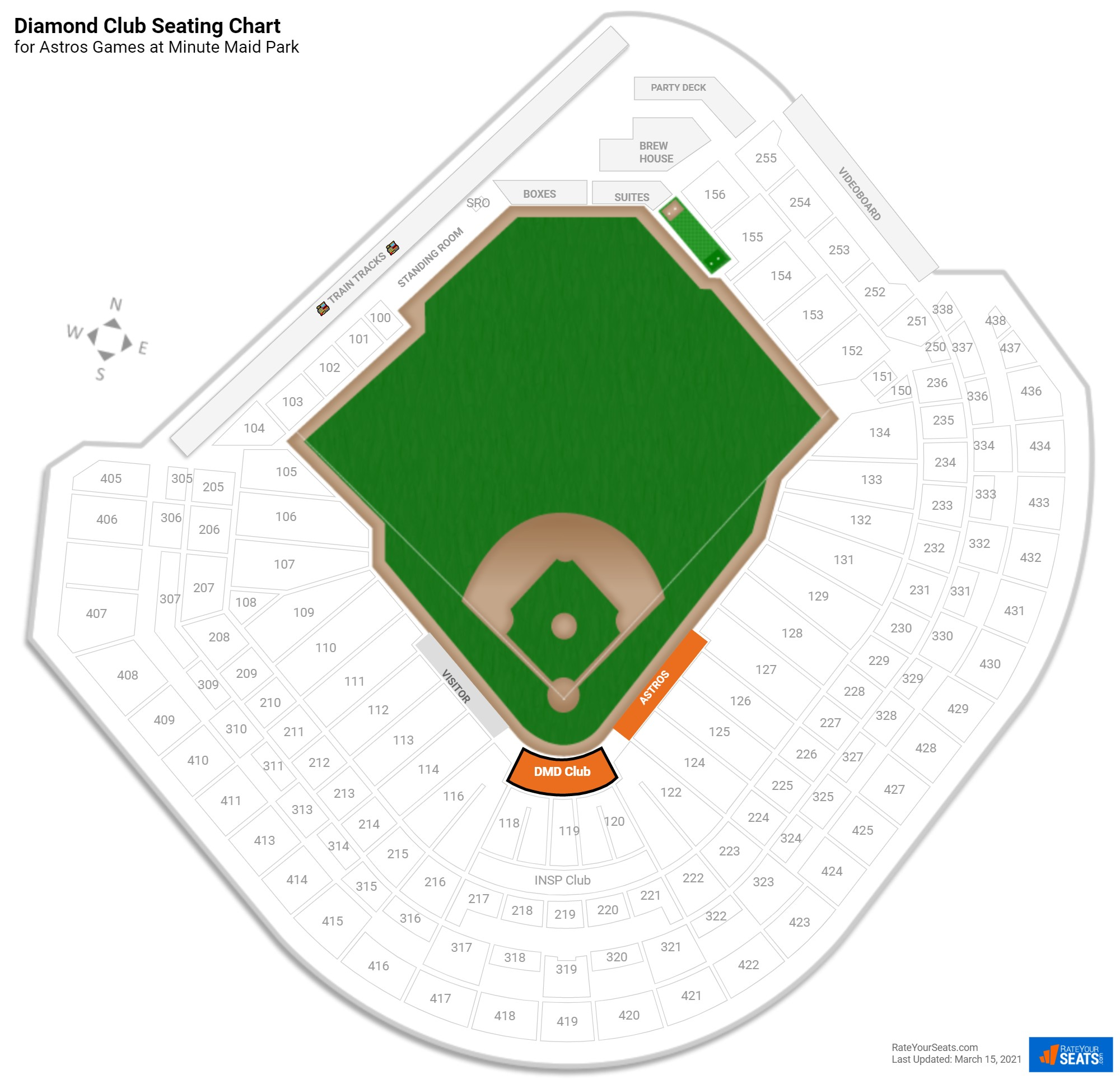 Minute Maid Park  seating chart