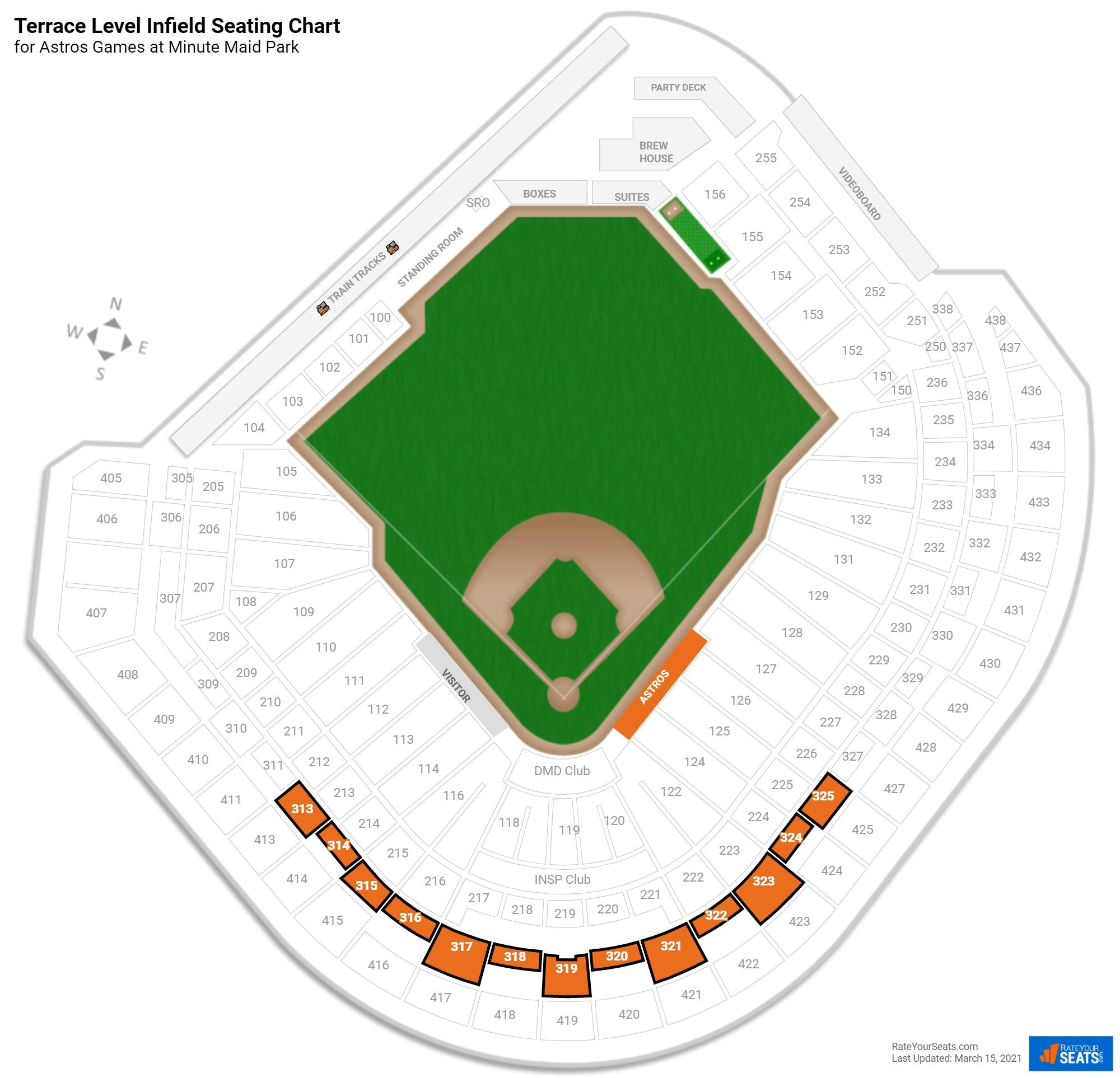 Minute Maid Park Terrace Level Infield seating chart