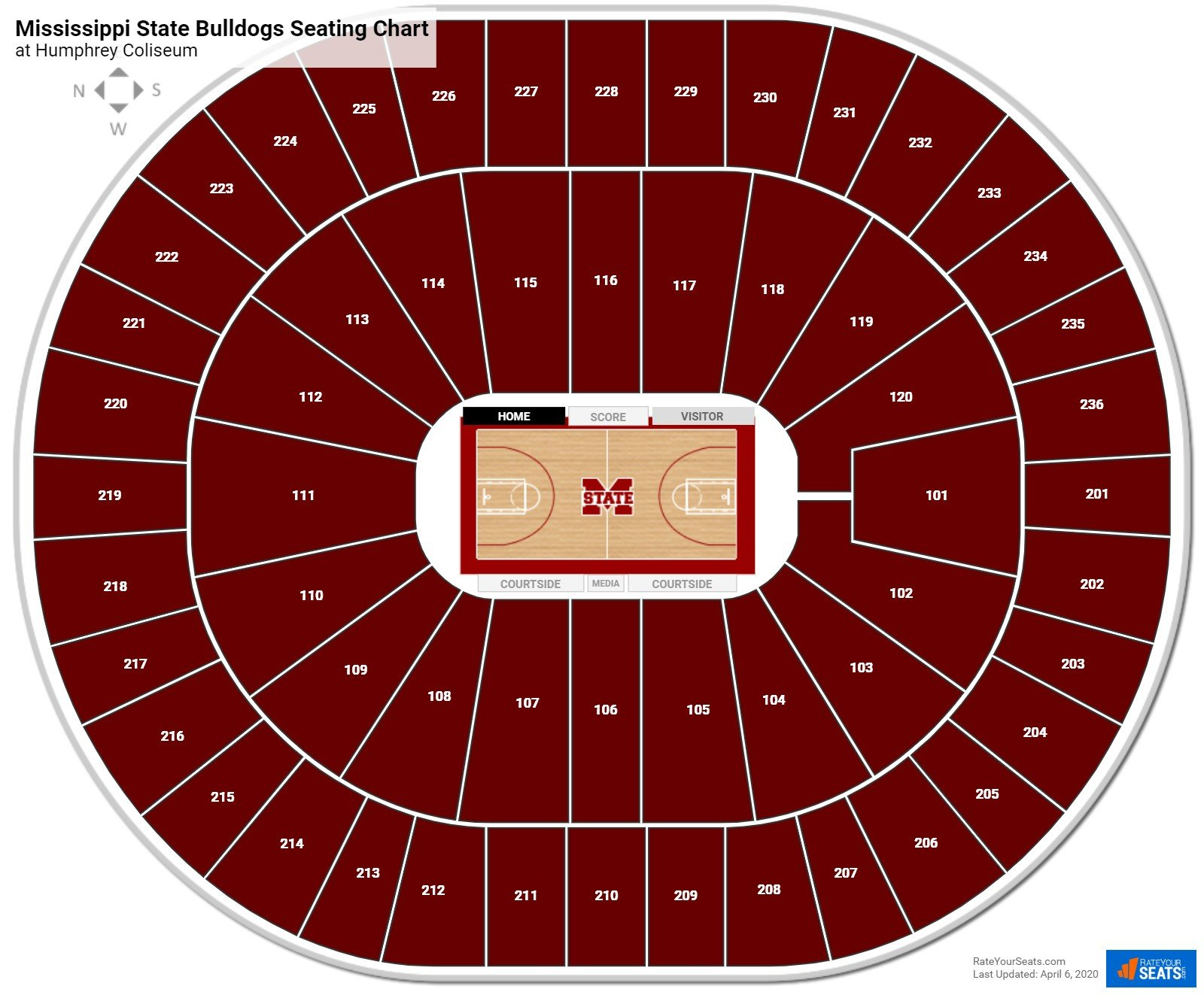 Mississippi State Basketball Seating Chart