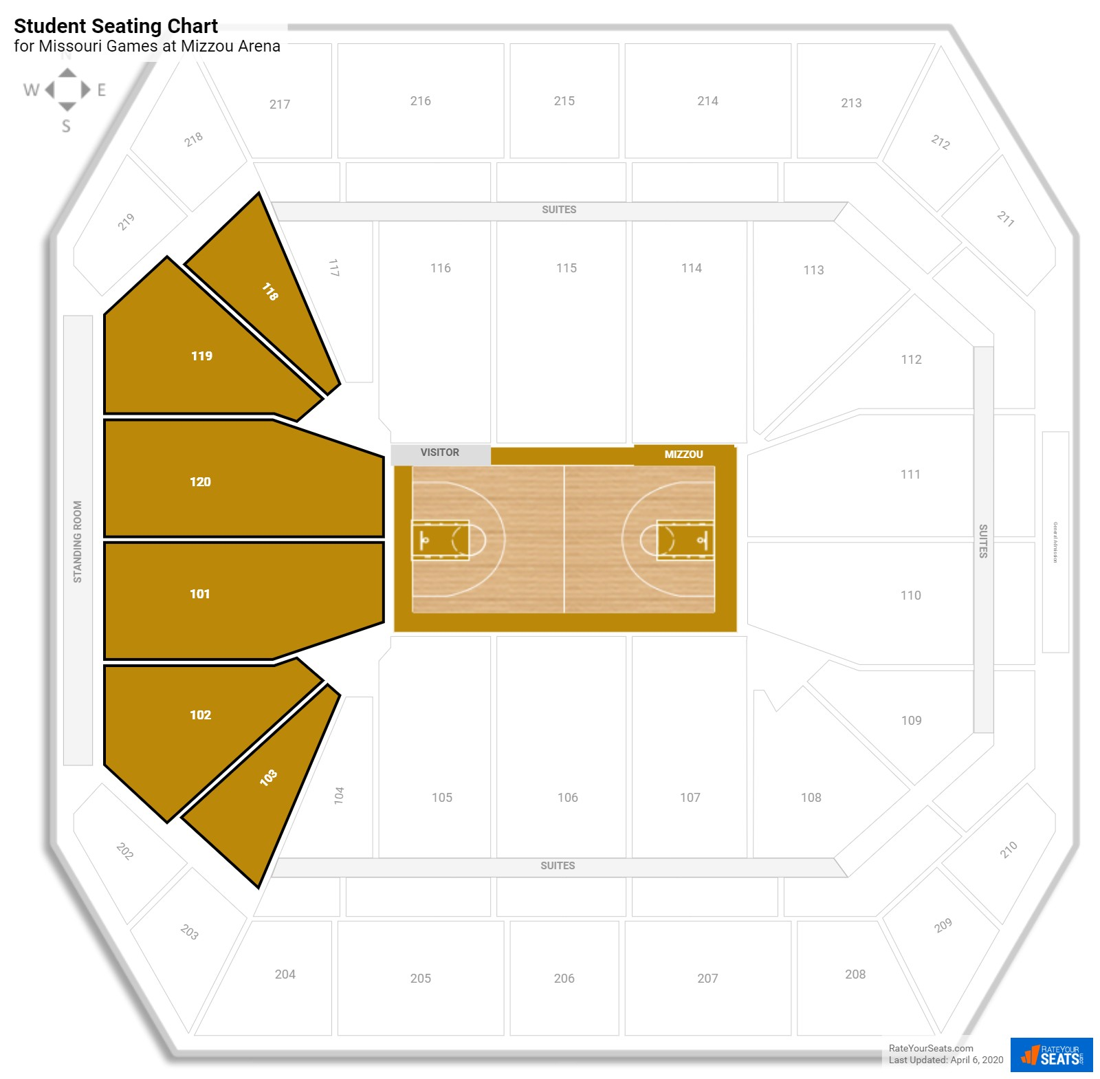 Mizzou Arena Seating Map Brokeasshome Com