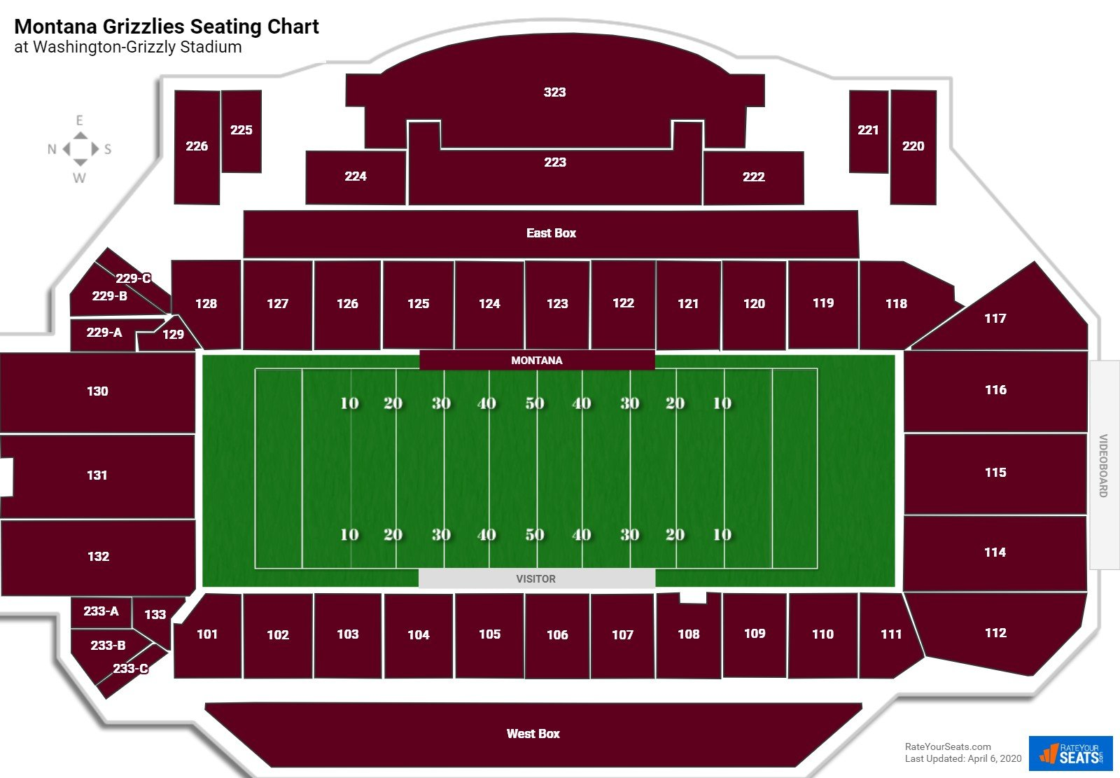 Montana Football Seating Chart