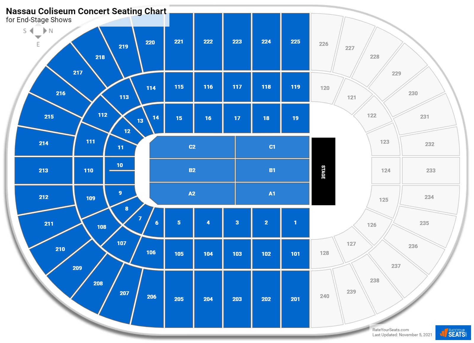 Nassau Coliseum Seating Chart for Concerts