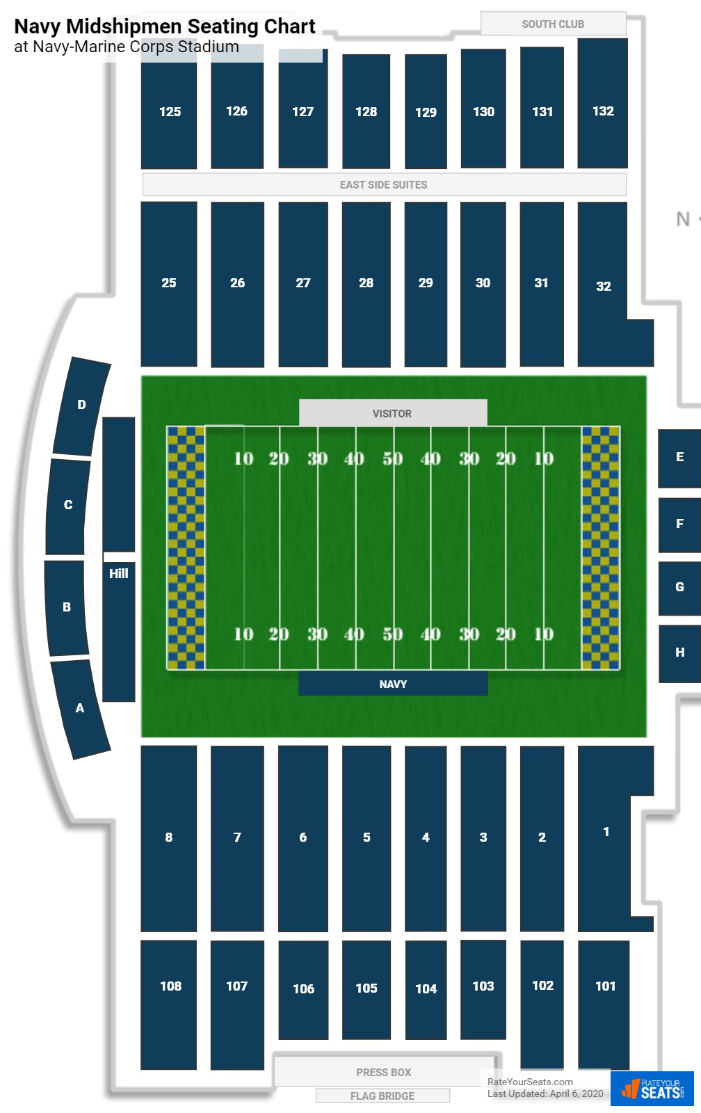 Navy Football Seating Chart