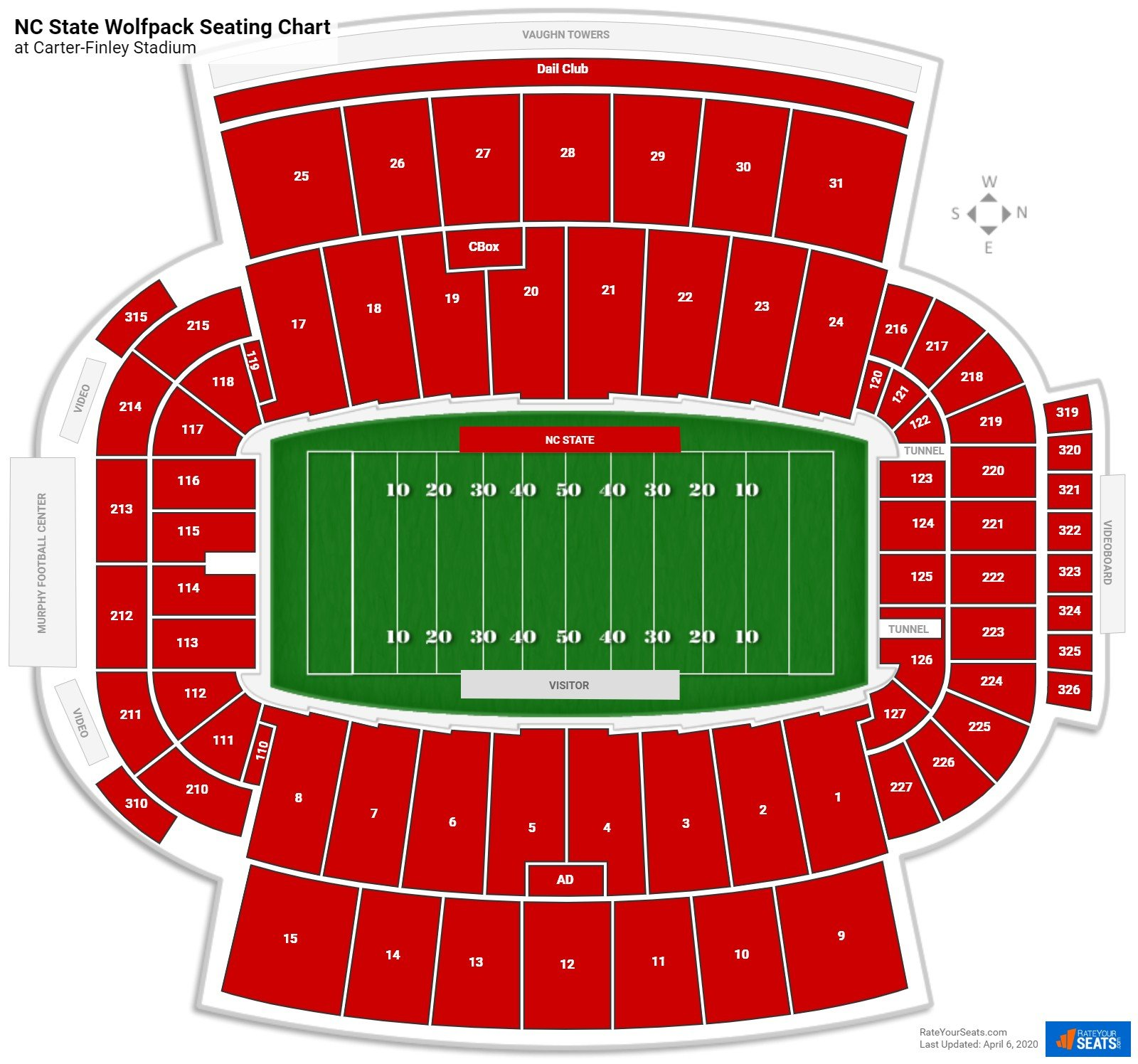 NC State Football Seating Chart