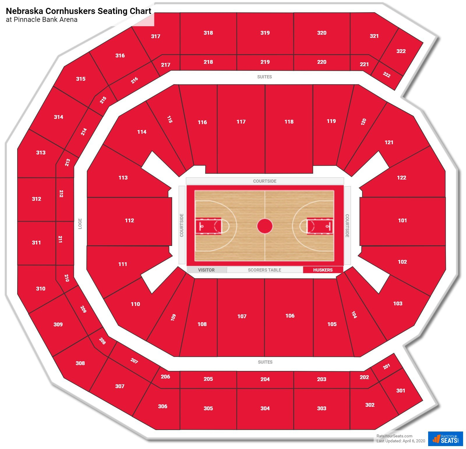 Nebraska Basketball Seating Chart