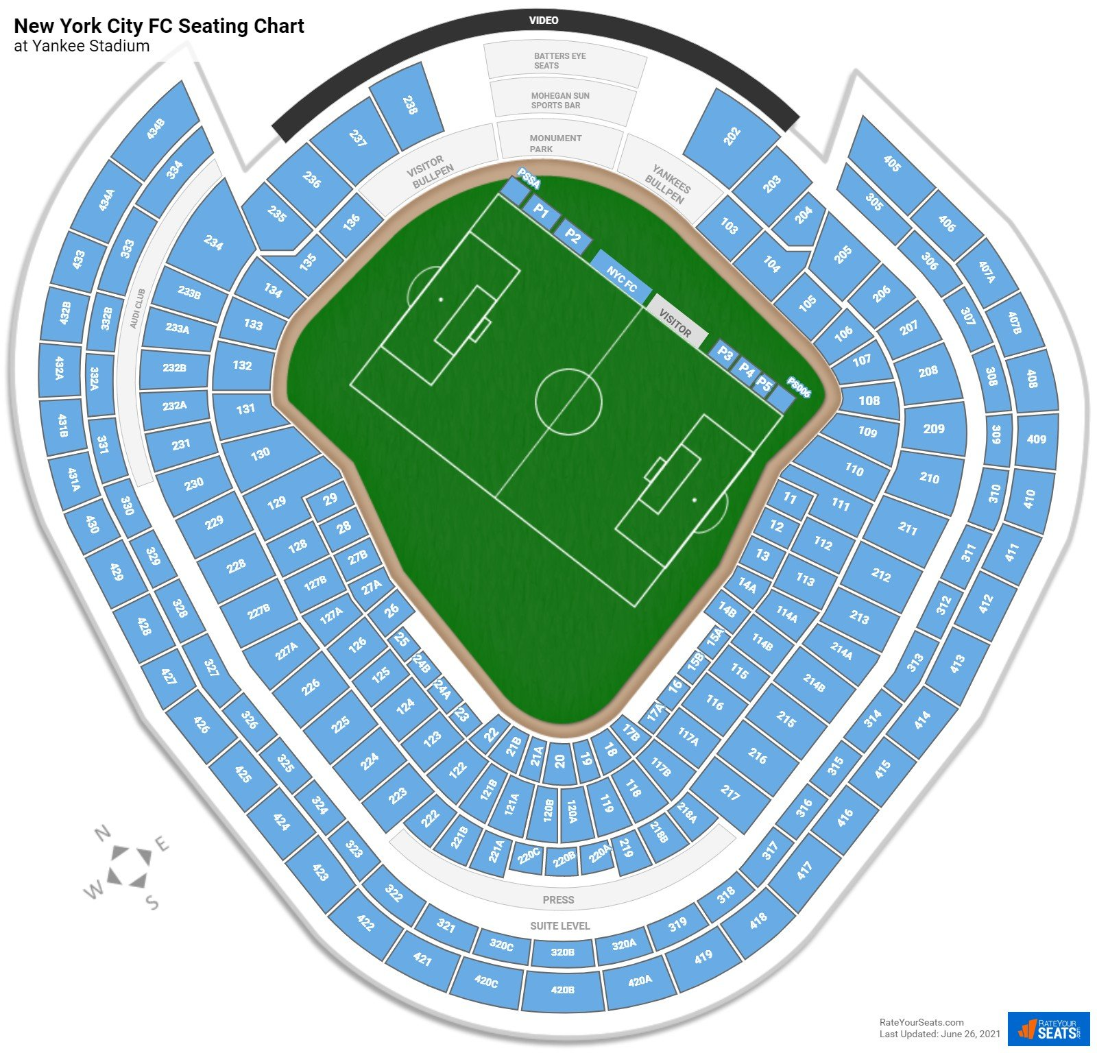 New York City FC Seating Chart