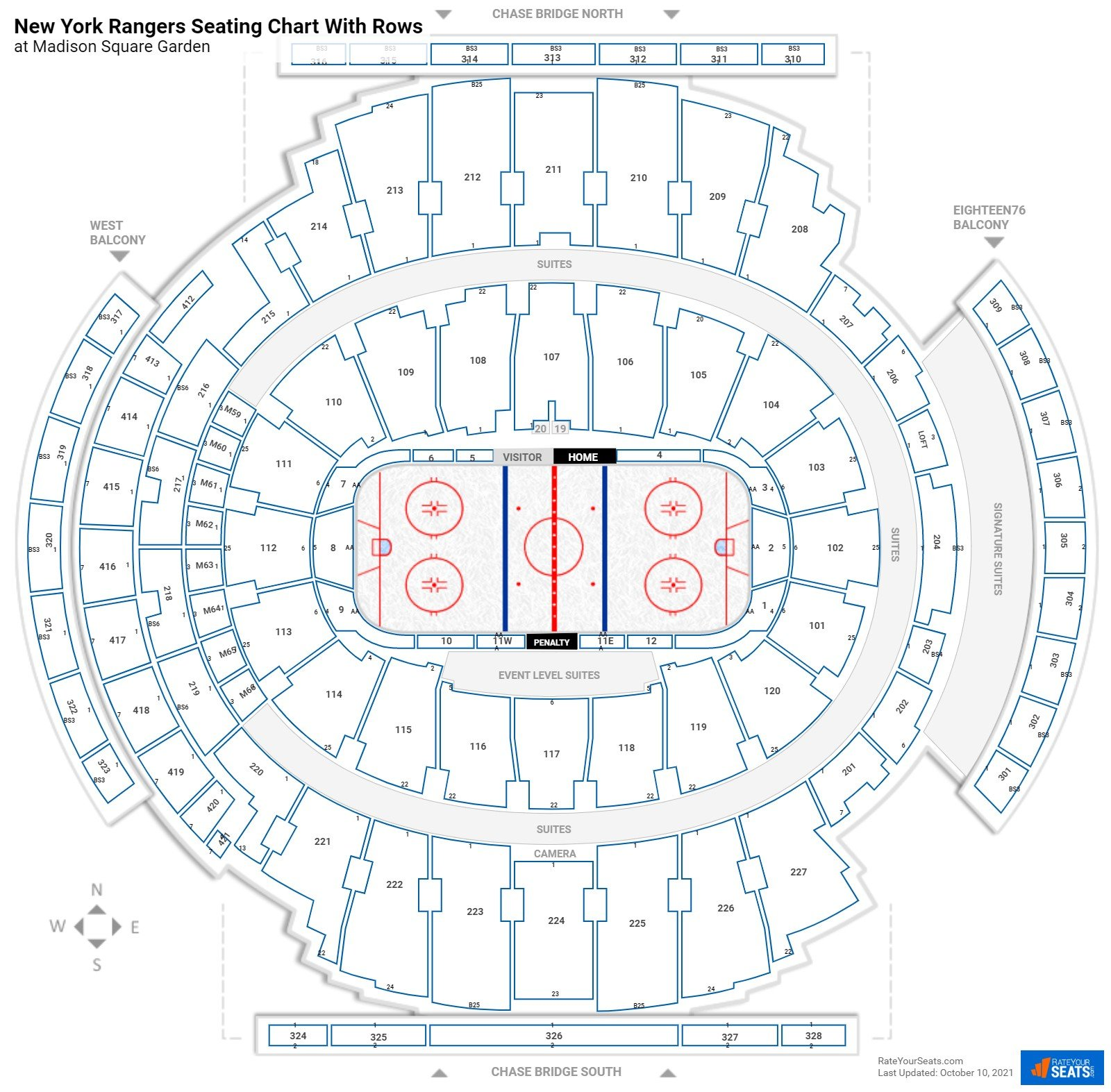 Madison Square Garden Seating For Rangers Games Rateyourseats Com