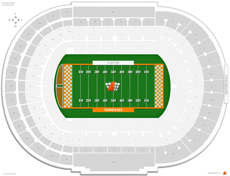 Neyland Stadium Tennessee Seating Guide Rateyourseatscom
