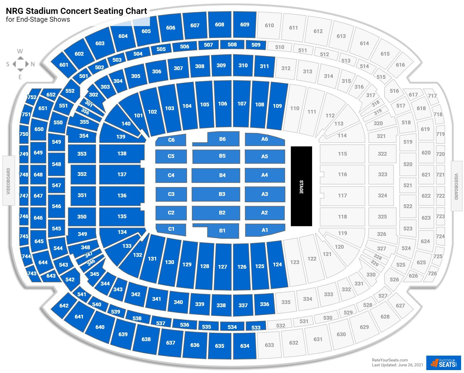 NRG Stadium Seating Chart for Concerts
