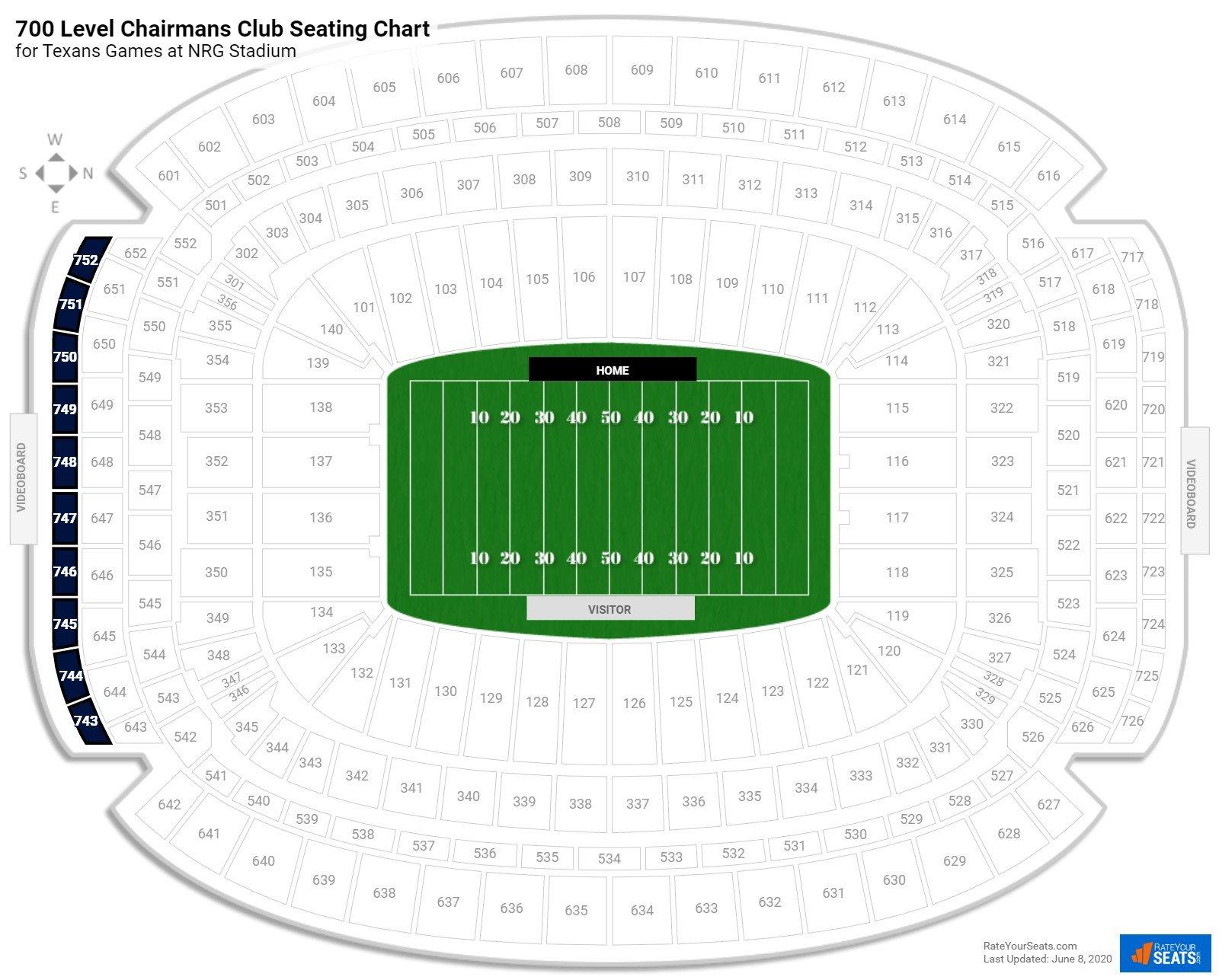 700 Level Chairmans Club Nrg Stadium Football Seating Rateyourseats Com