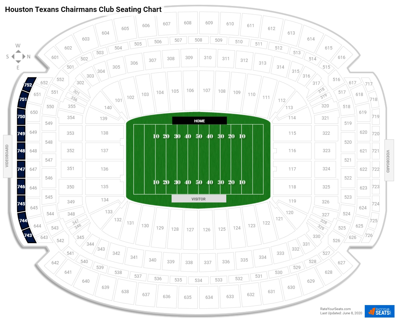 NRG Stadium  seating chart