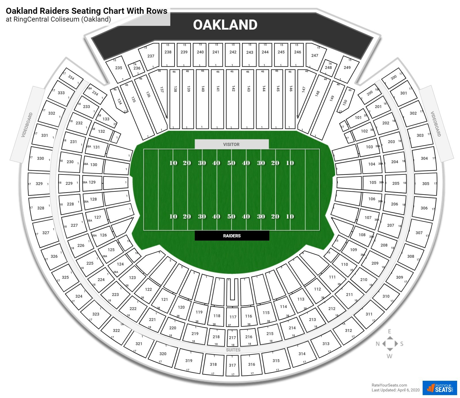 Ringcentral Coliseum Seating Charts For Football Rateyourseats Com